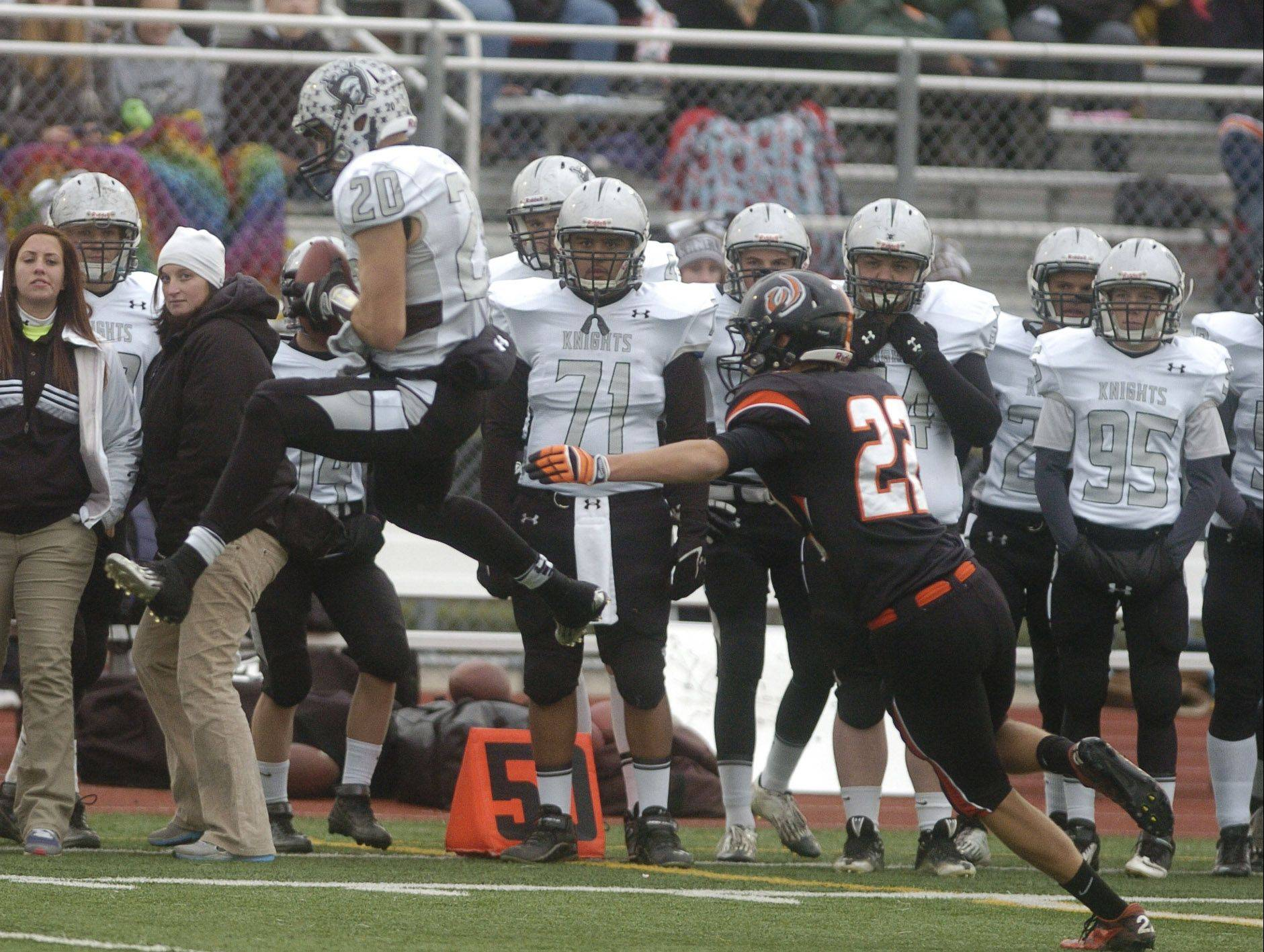 Dylan Nauert caught 7 passes for Kaneland at Lincoln-Way West in New Lenox Saturday.