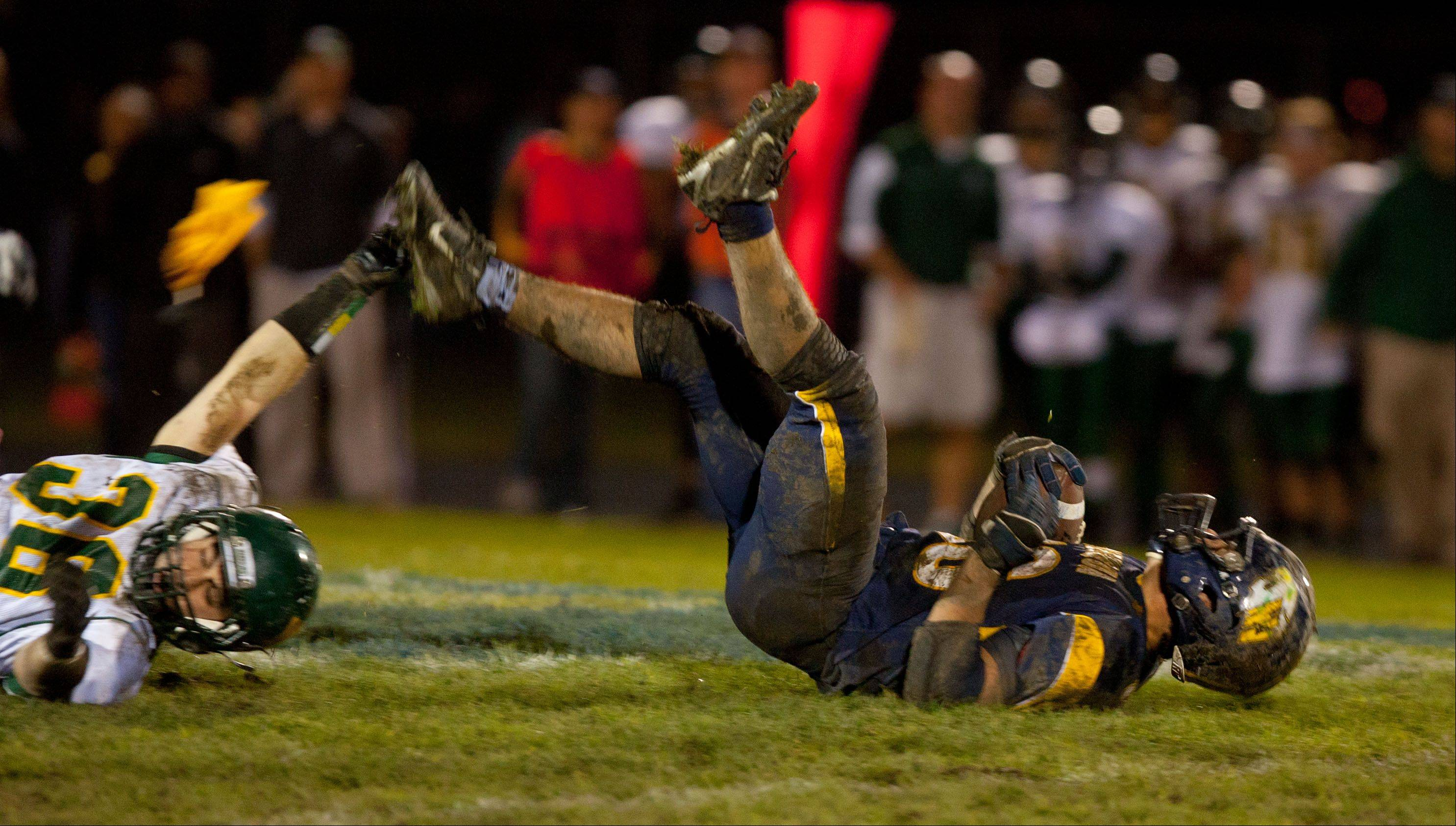 Neuqua Valley hosted Waubonsie Valley Saturday night for IHSA state quarterfinal football action at Neuqua Valley in Naperville.