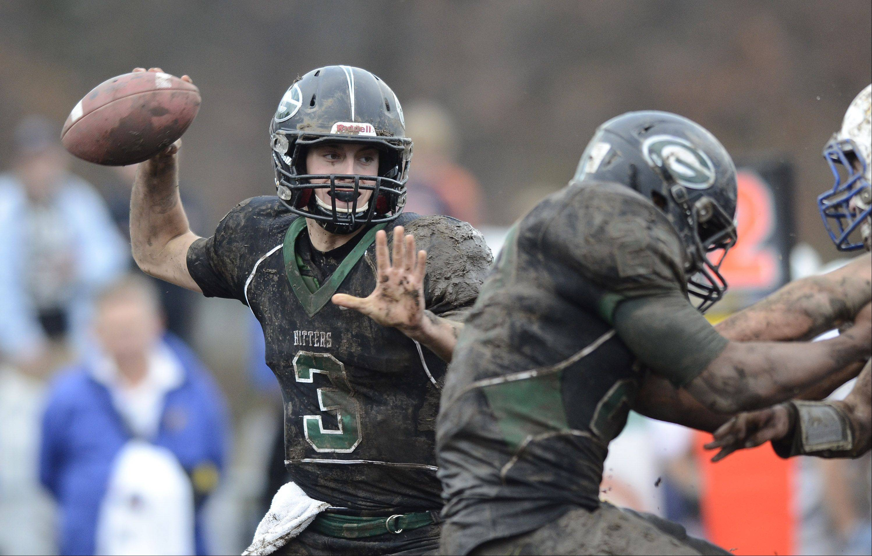 Glenbard West quarterback Henry Haeffner throws a pass during Saturday's game against Wheaton North.