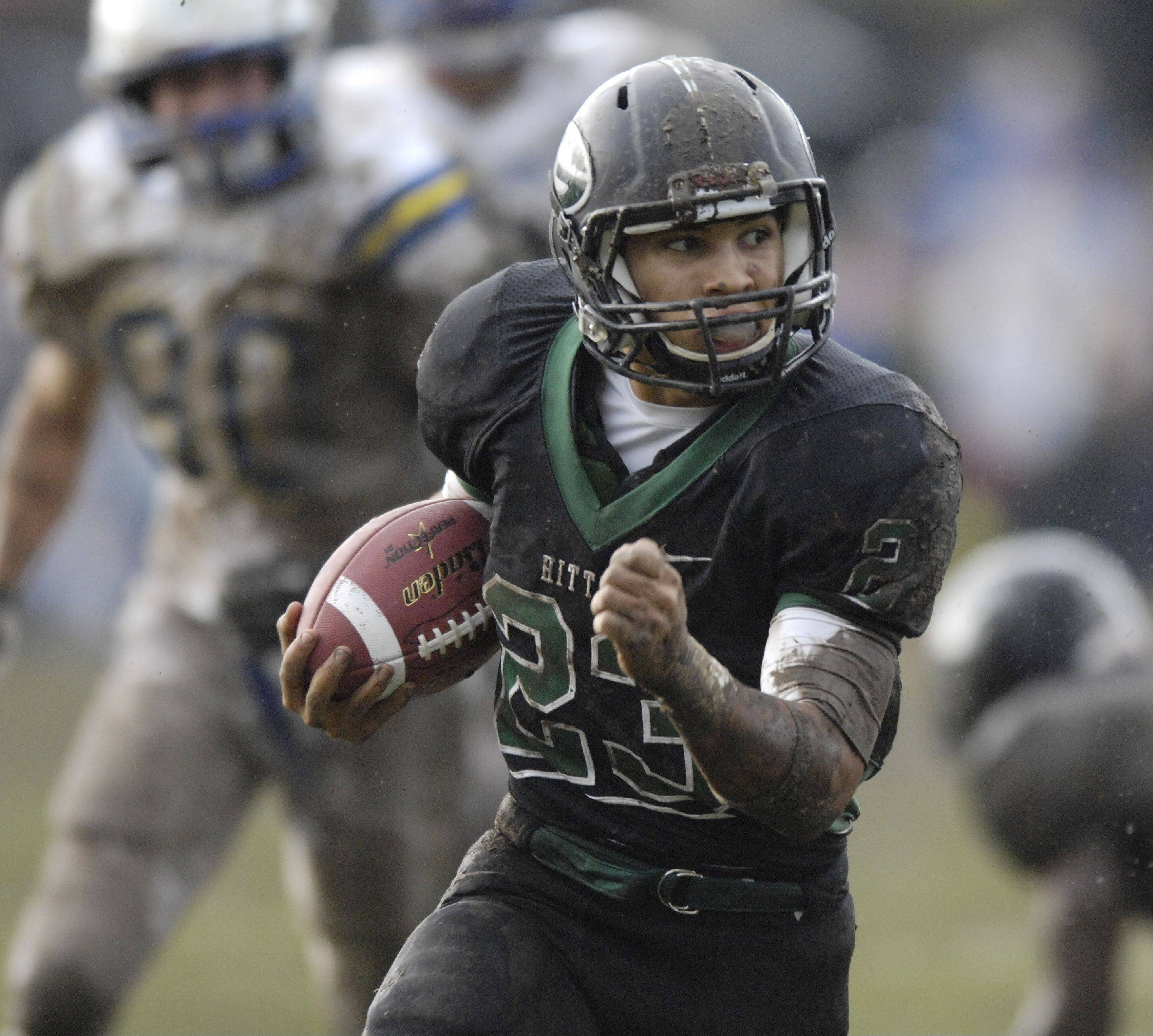 Glenbard West running back Scott Andrews carries the ball during Saturday's game against Wheaton North.