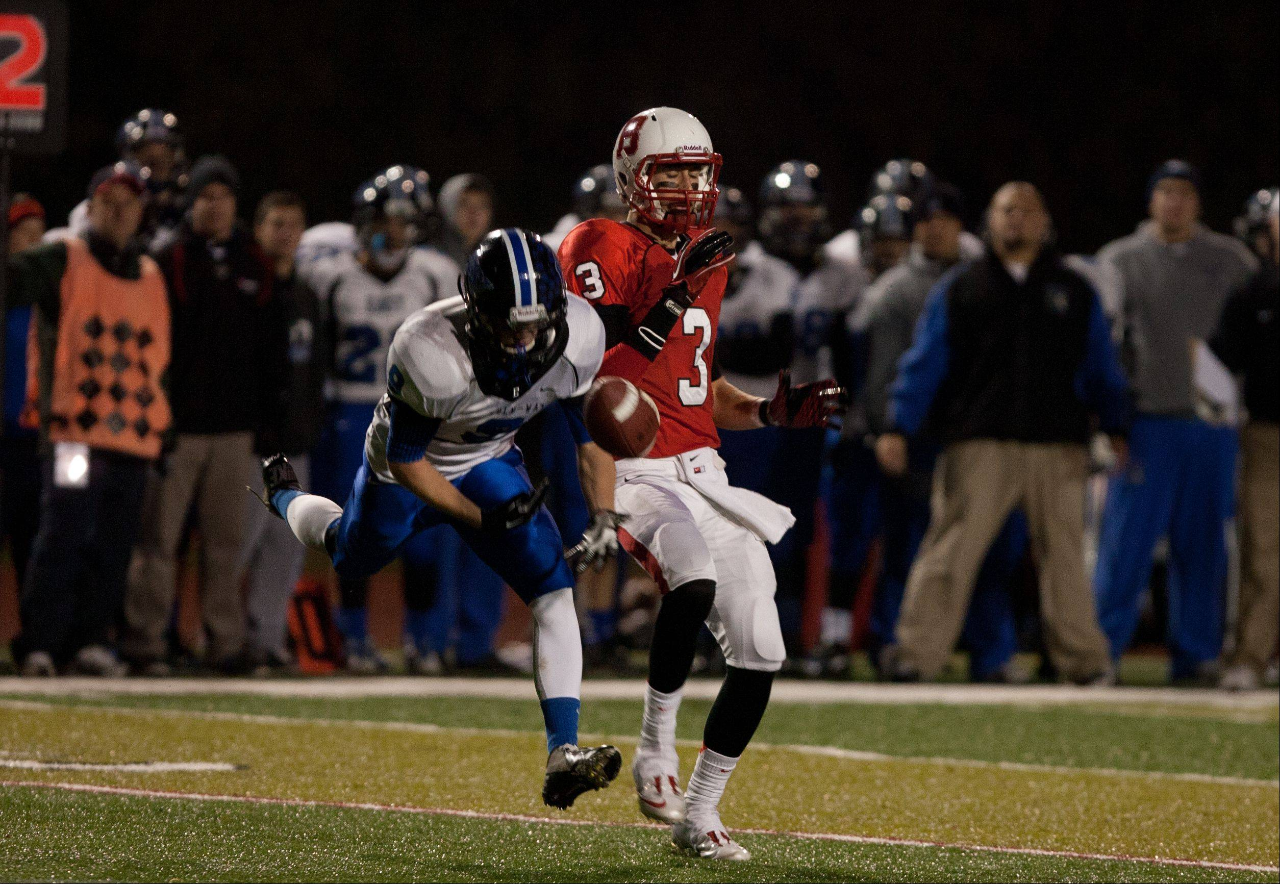 Benet Academy hosted Lincoln-Way Saturday night for IHSA state semifinal football action at Benedictine University in Lisle.