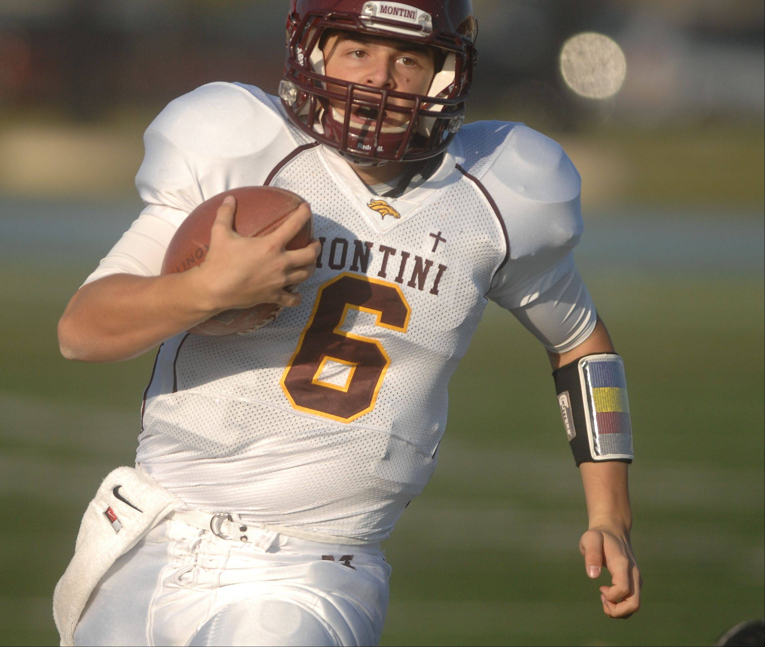 Montini played Joliet Catholic Saturday afternoon in IHSA Class 5A football semifinal action.