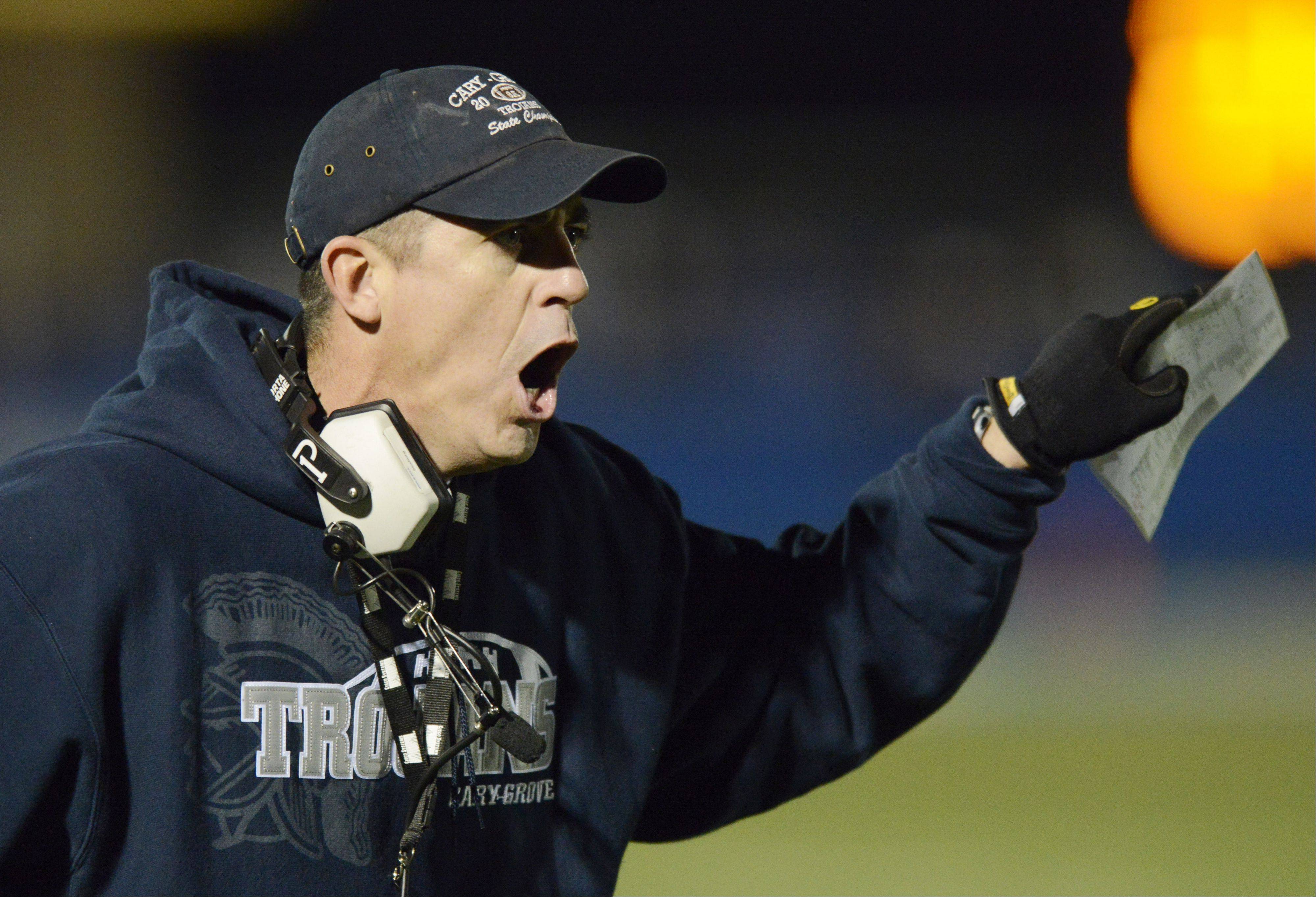 Cary-Grove coach Brad Seaburg will lead his troops into the Class 6A state championship game against Crete-Monee Saturday at 1 p.m. at Memorial Stadium in Champaign.