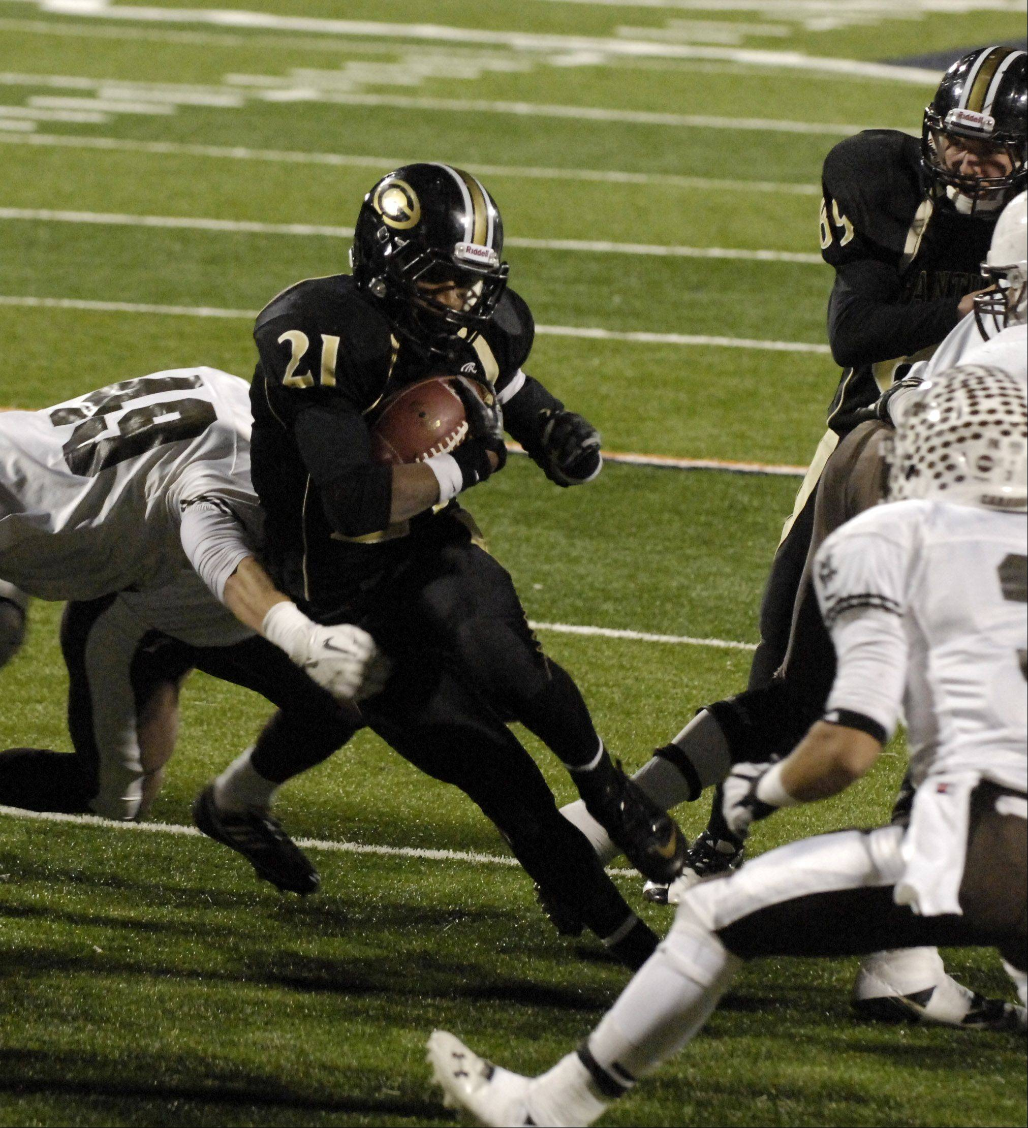 Images from the 8A state title game between Glenbard North and Mt. Carmel Saturday in Champaign, November 24, 2012.