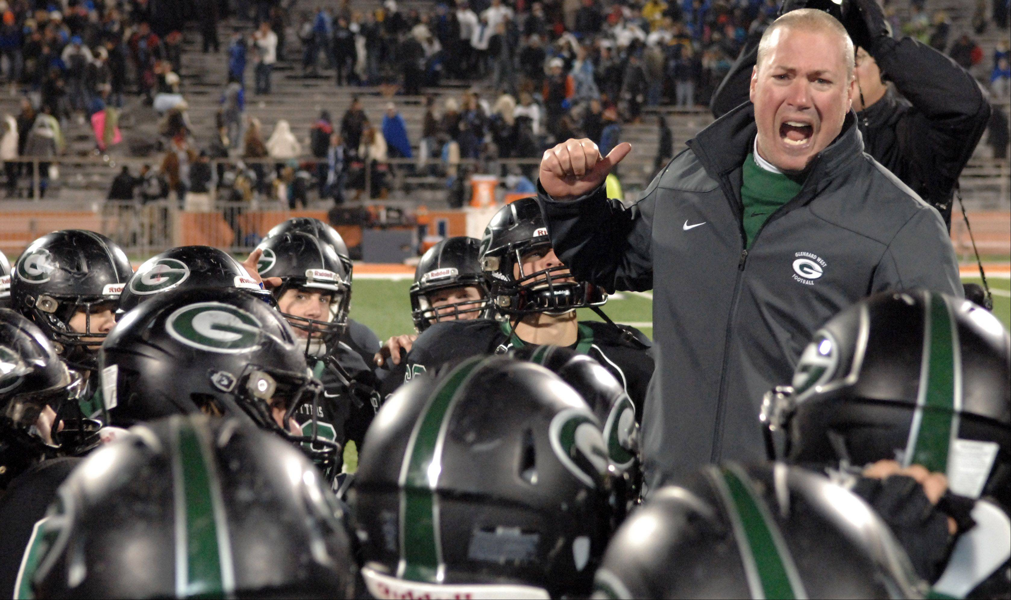 Images from the 7A state title game between Glenbard West and Lincoln-Way East Saturday in Champaign, November 24, 2012.