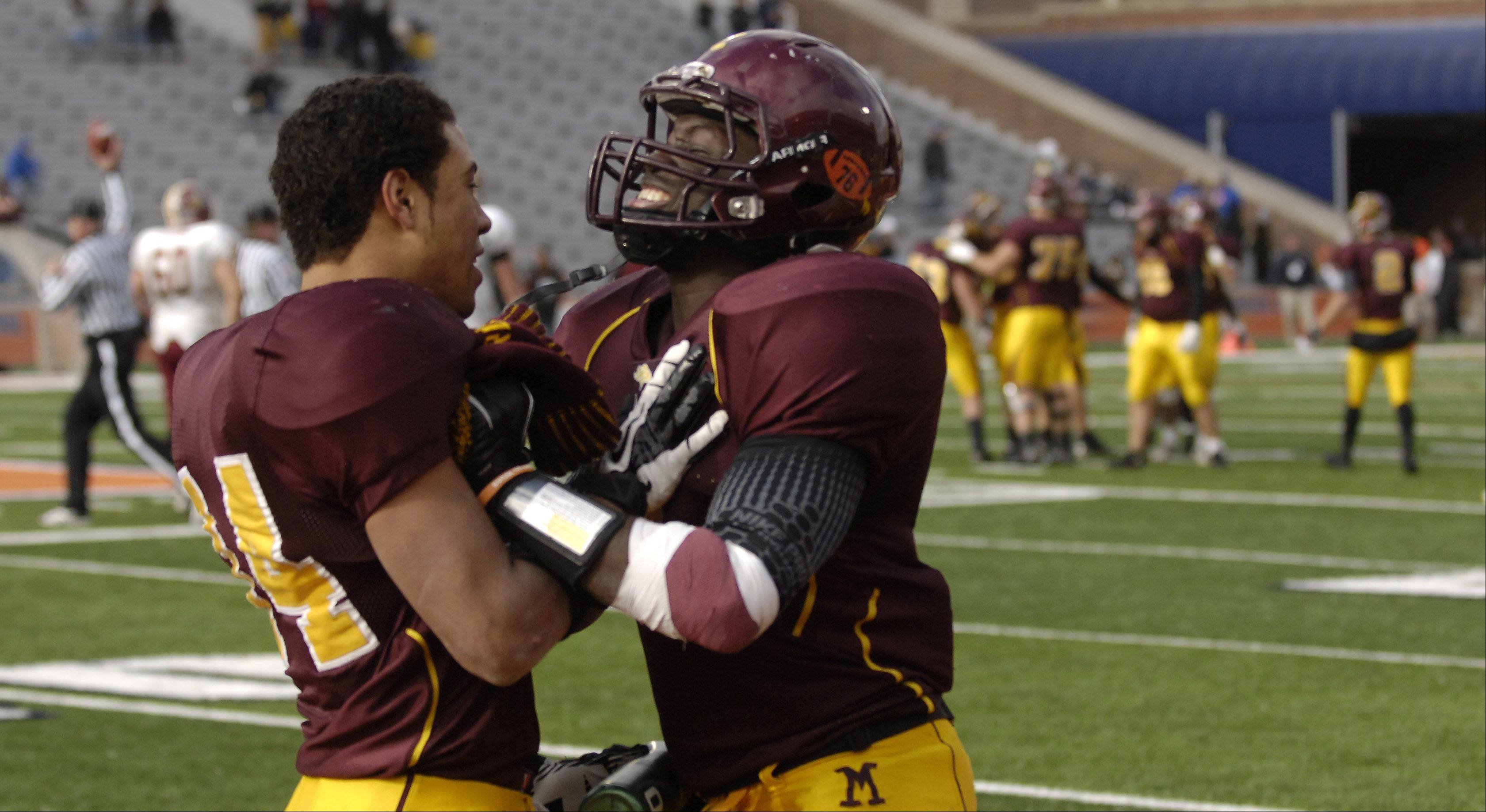 Images from the 5A state title game between Montini and Morris Saturday in Champaign.