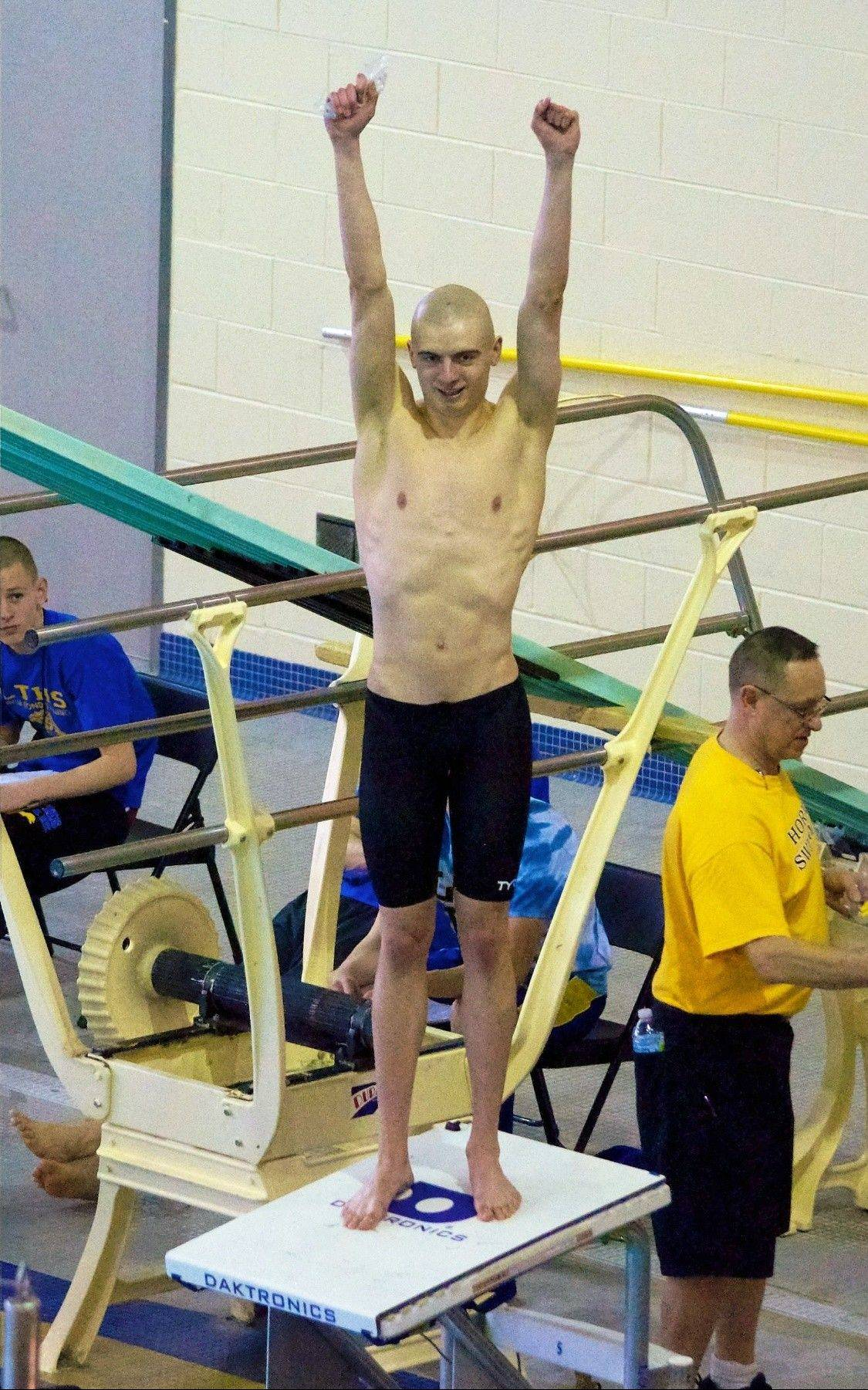 Senior Michael Barrowclift, pictured at the Lyons sectional, became St. Francis' first male swimmer to qualify for the state finals.