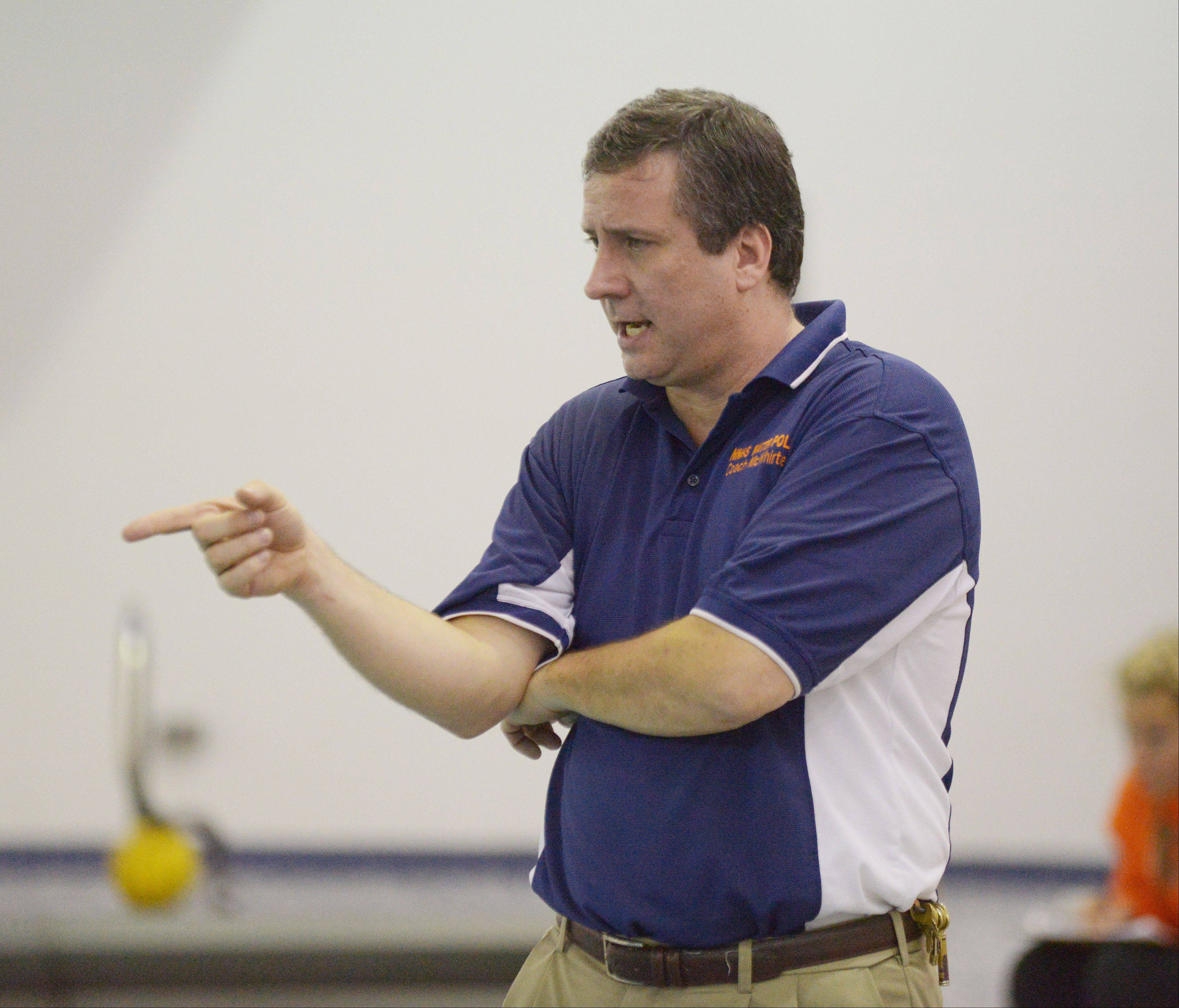 Naperville North girls water polo coach Andy McWhirter will be inducted into the Illinois Water Polo Hall of Fame in Elmhurst on May 28.