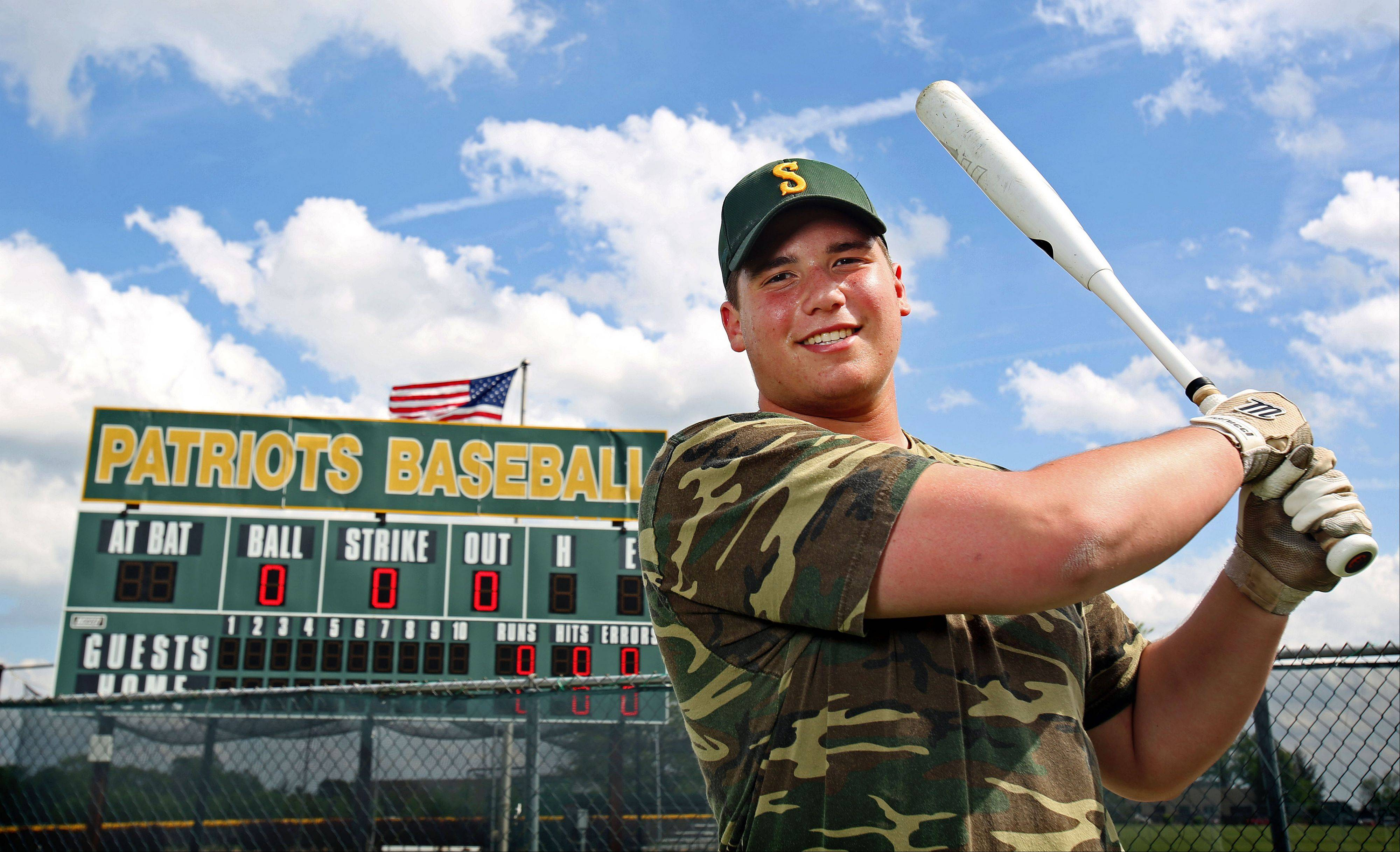 Stevenson's Zach Novoselsky is a Division I football prospect but has always had a love for baseball, where he's excelled at designated hitter for the Pats this spring.