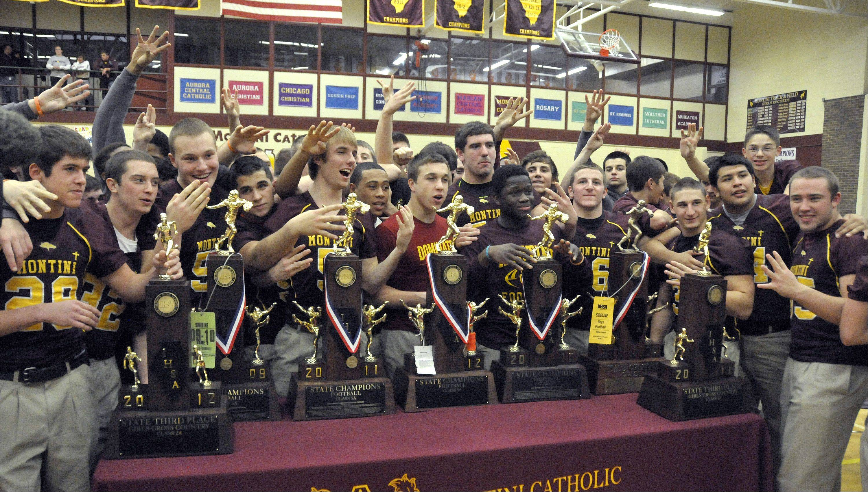 Montini will try to win a fifth consecutive state championship this season.