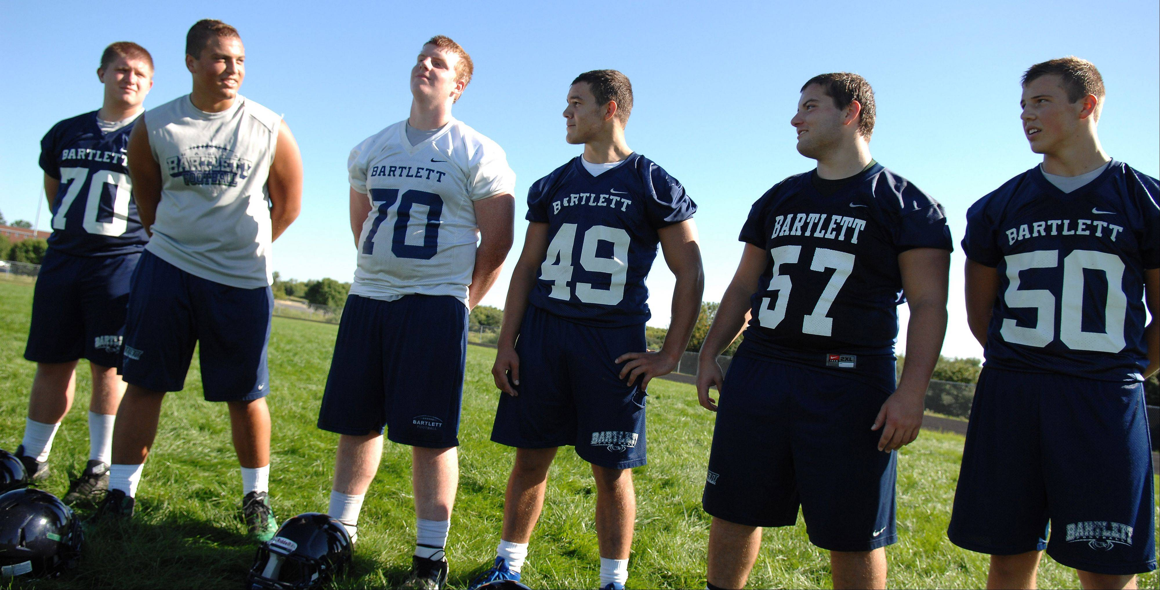 The offensive line at Bartlett.