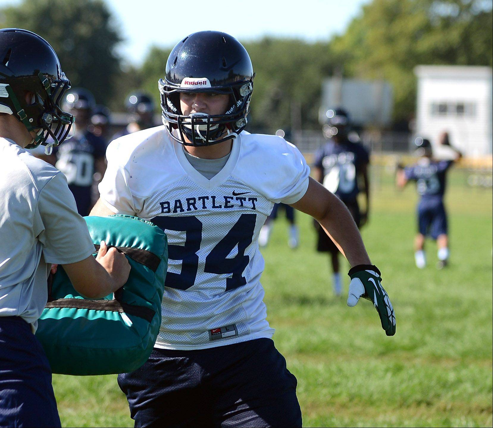 Clint Zierke gets ready to throw a block at Bartlett.