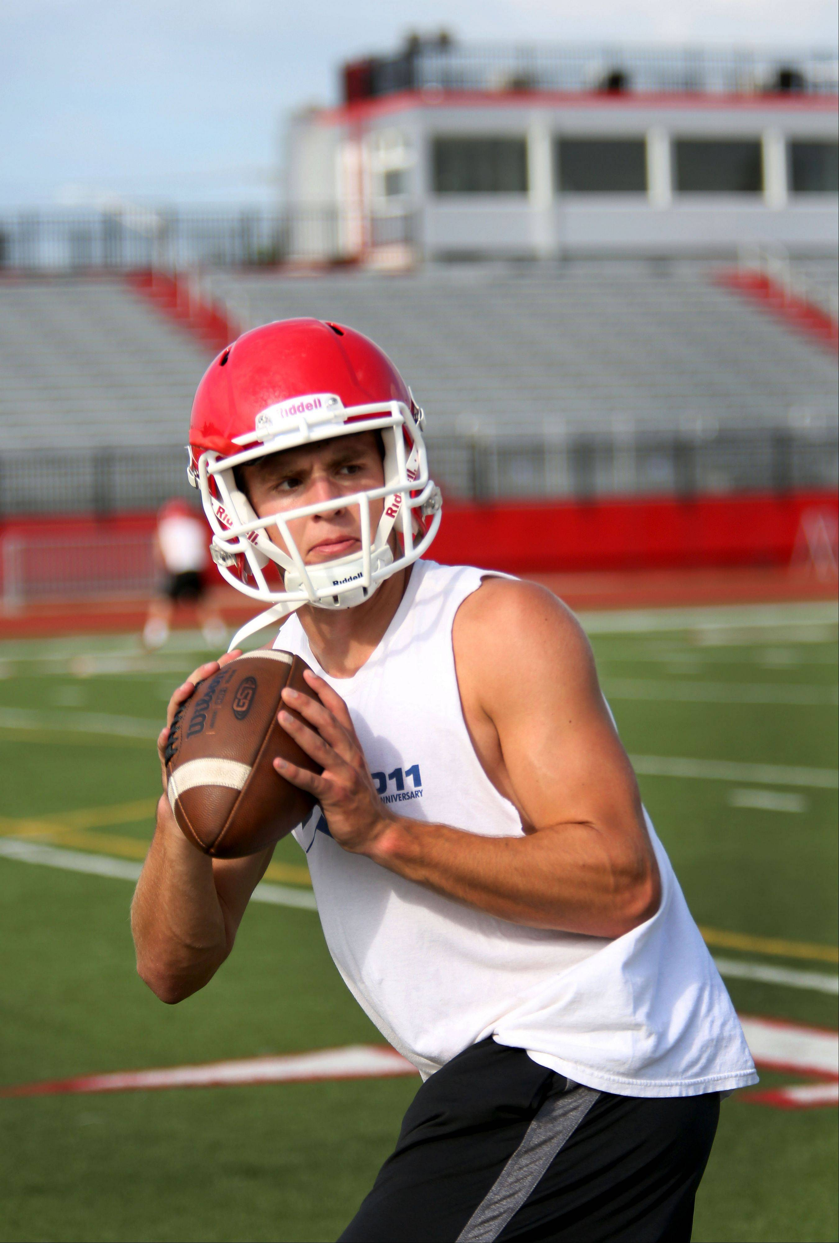 Naperville Central quarterback Jake Kolbe is headed to Illinois State after graduation.