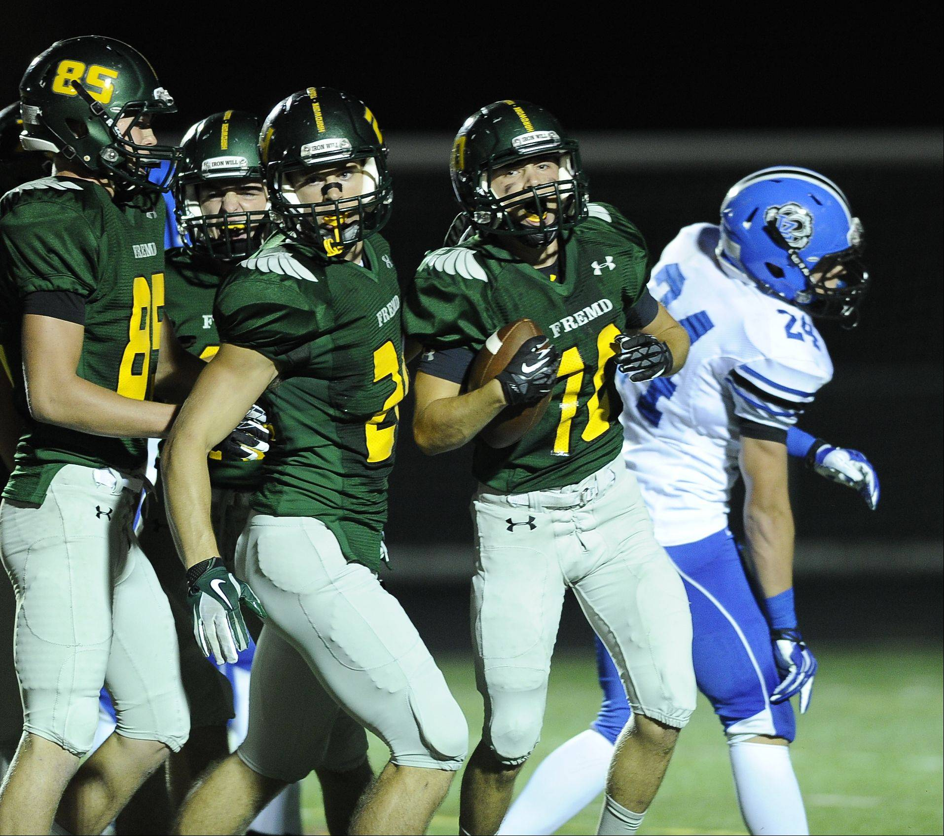 Week -1- Photos from the Fremd vs. Lake Zurich football game on Friday, Aug. 30 in Palatine.