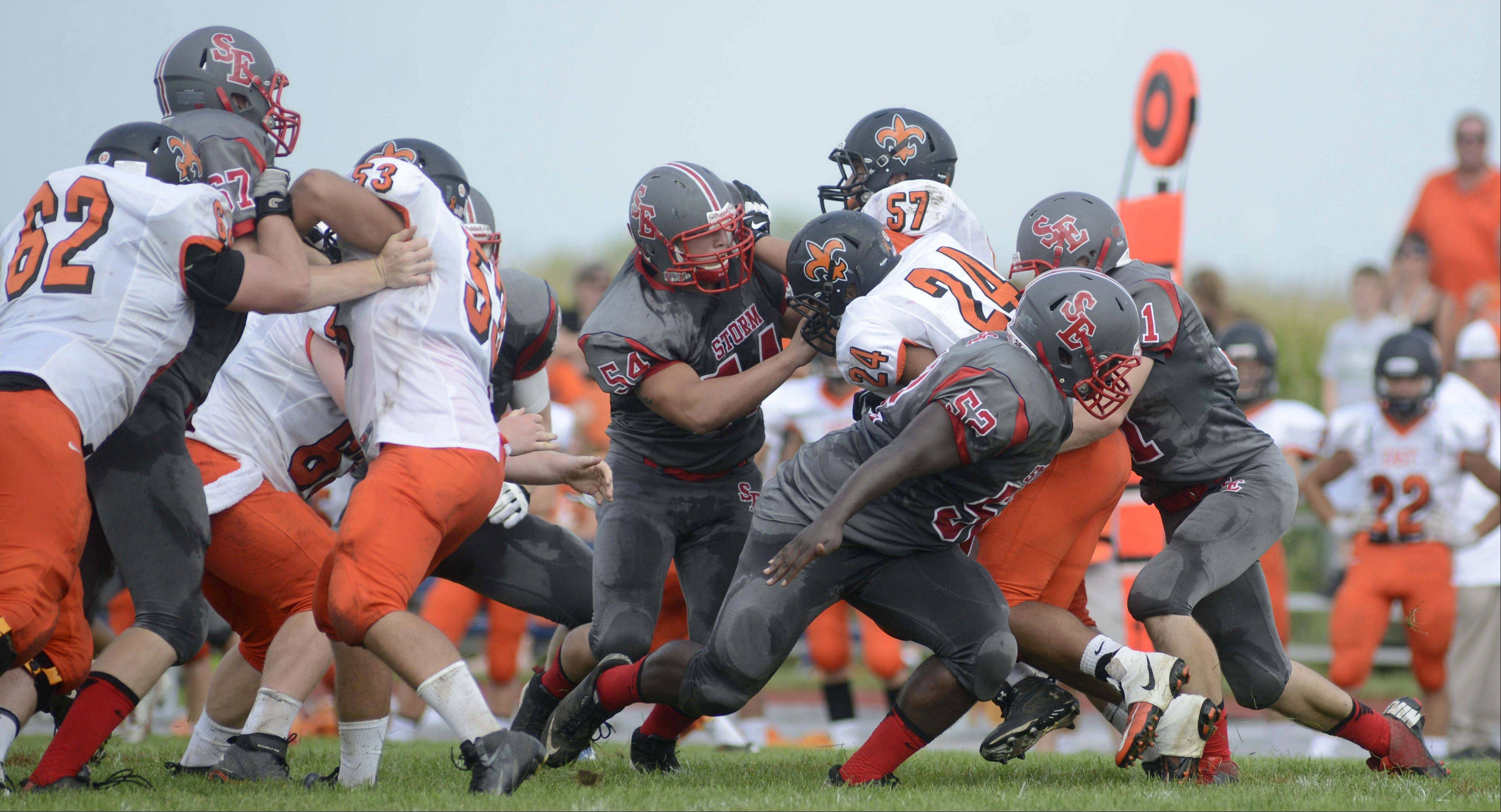 Week 1 � Images from the St. Charles East vs. South Elgin football game Saturday, August 31, 2013.