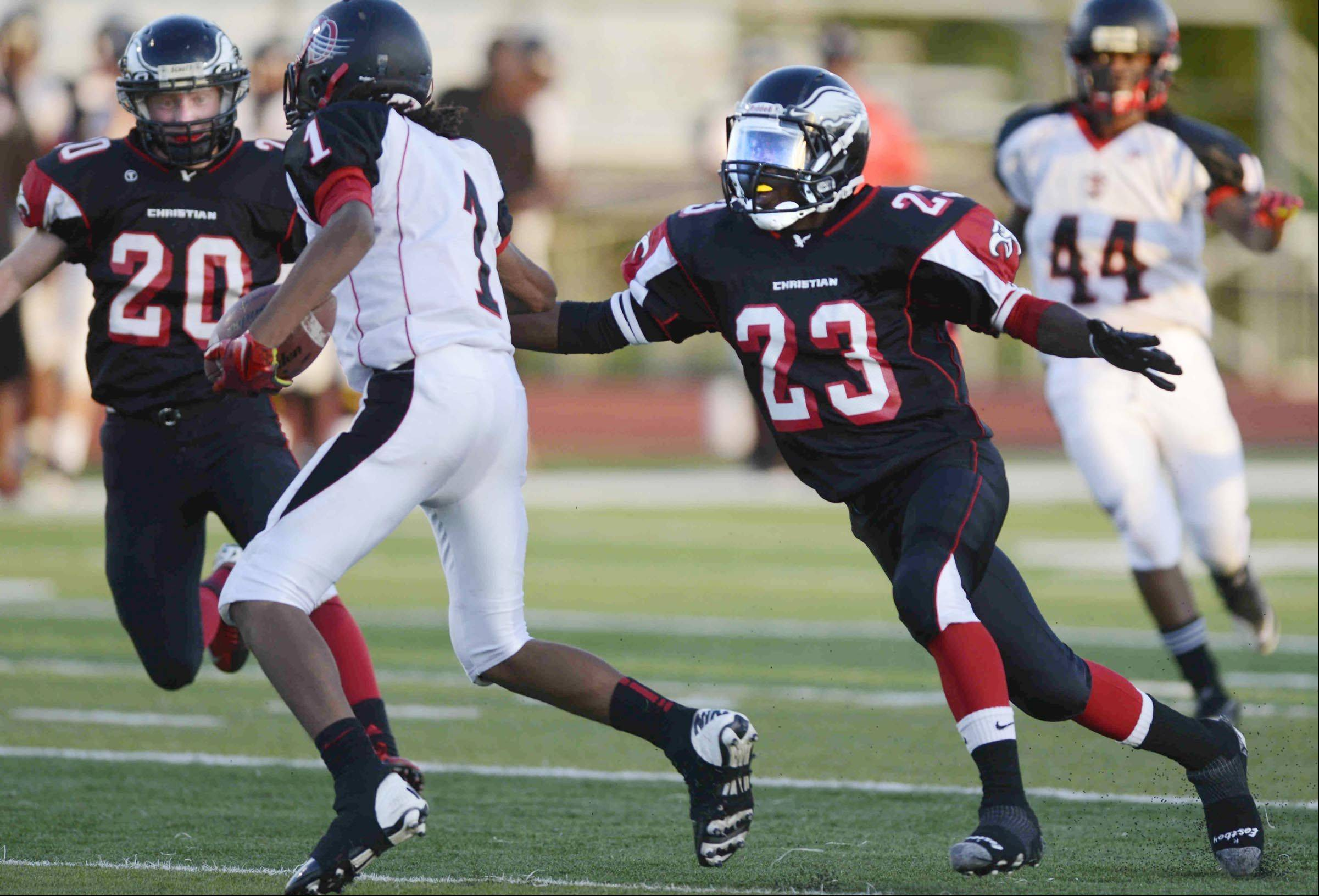 Week 1 - Images from the Aurora Christian vs. DuSable football game Tuesday, September 3, 2013.