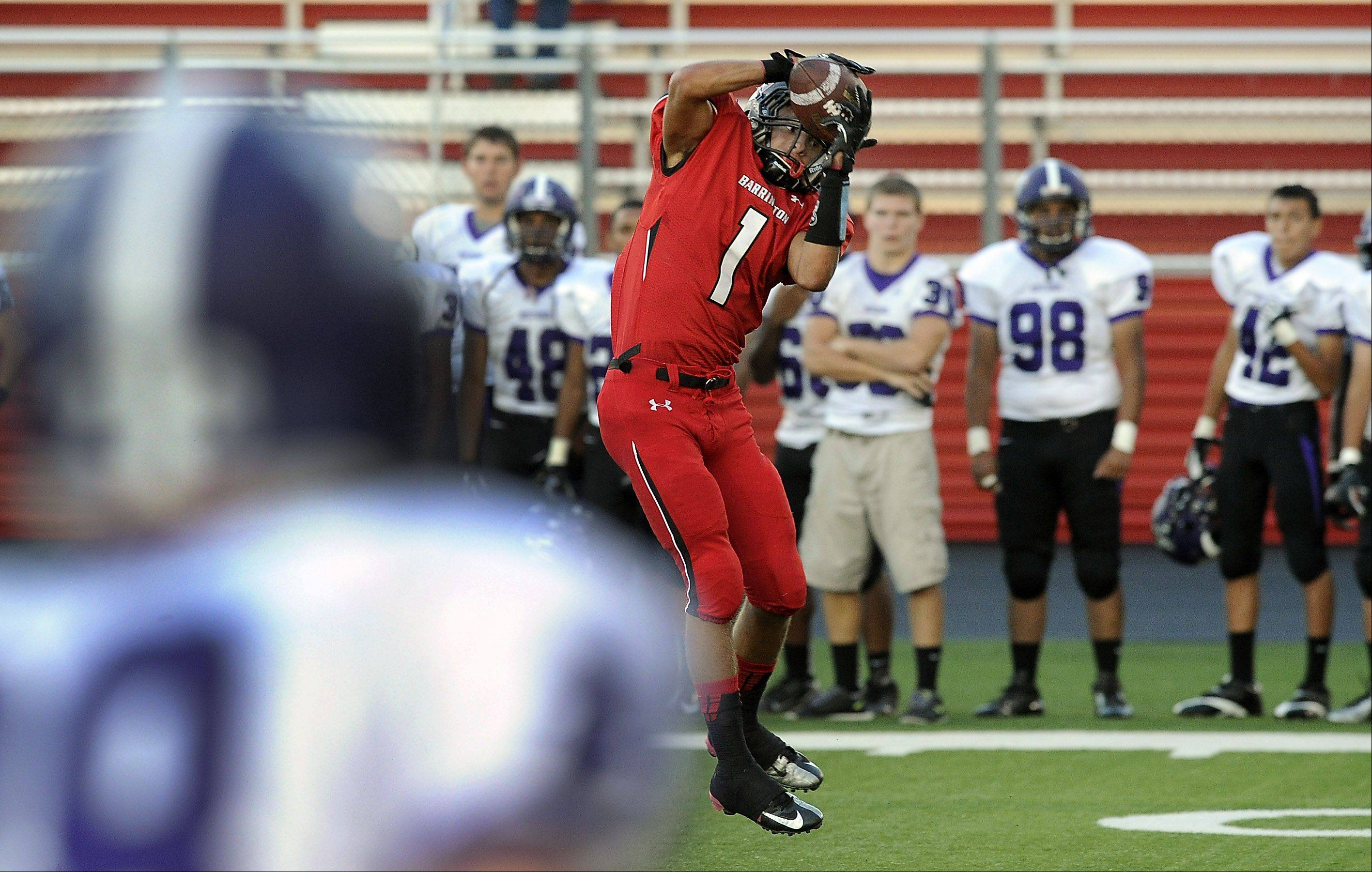 Barrington's Scotty Miller makes a catch and runs for a touchdown in the first quarter.