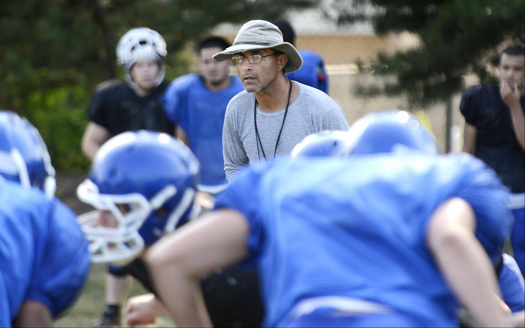 Third-year coach Vito Andriola has brought a tough coaching style to Carpentersville, but it's working as the Chargers are 3-0 heading into Friday's showdown at Cary-Grove.