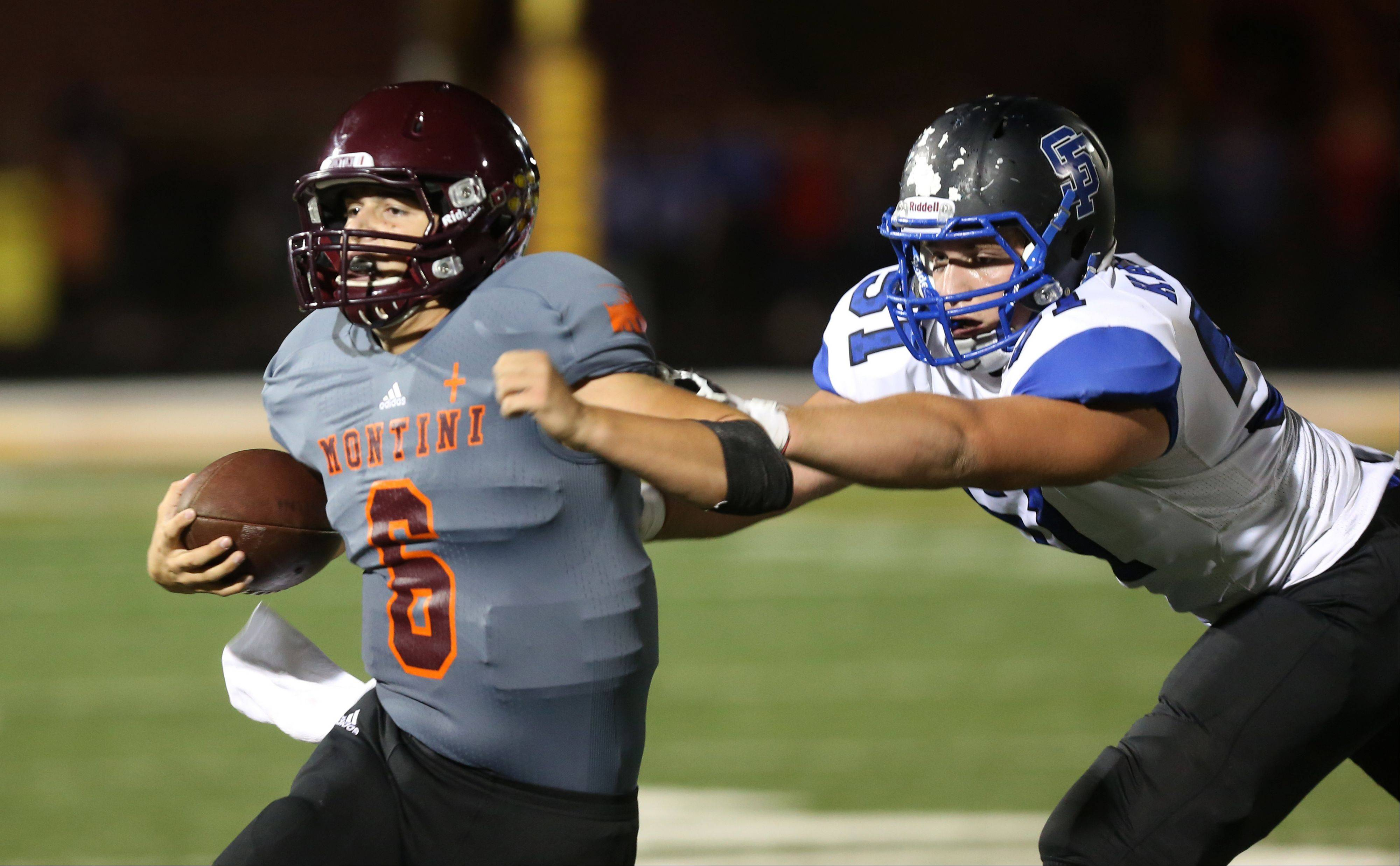 Images: St. Francis High School vs. Montini Catholic High School football