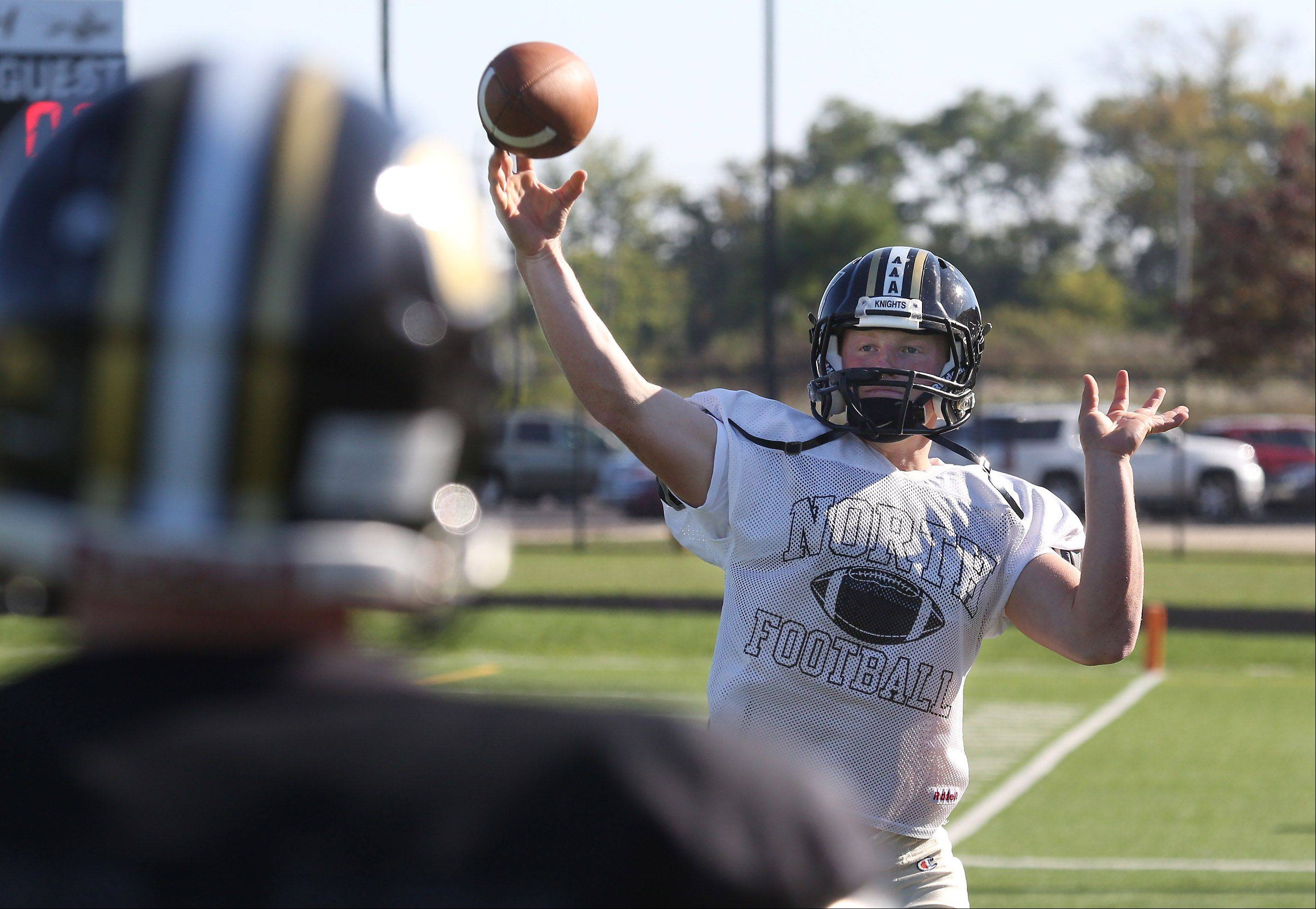 Quarterback Merrick Gentile of Grayslake has the Knights off to a 4-0 start this season while following in the footsteps of standout QB A.J. Fish.