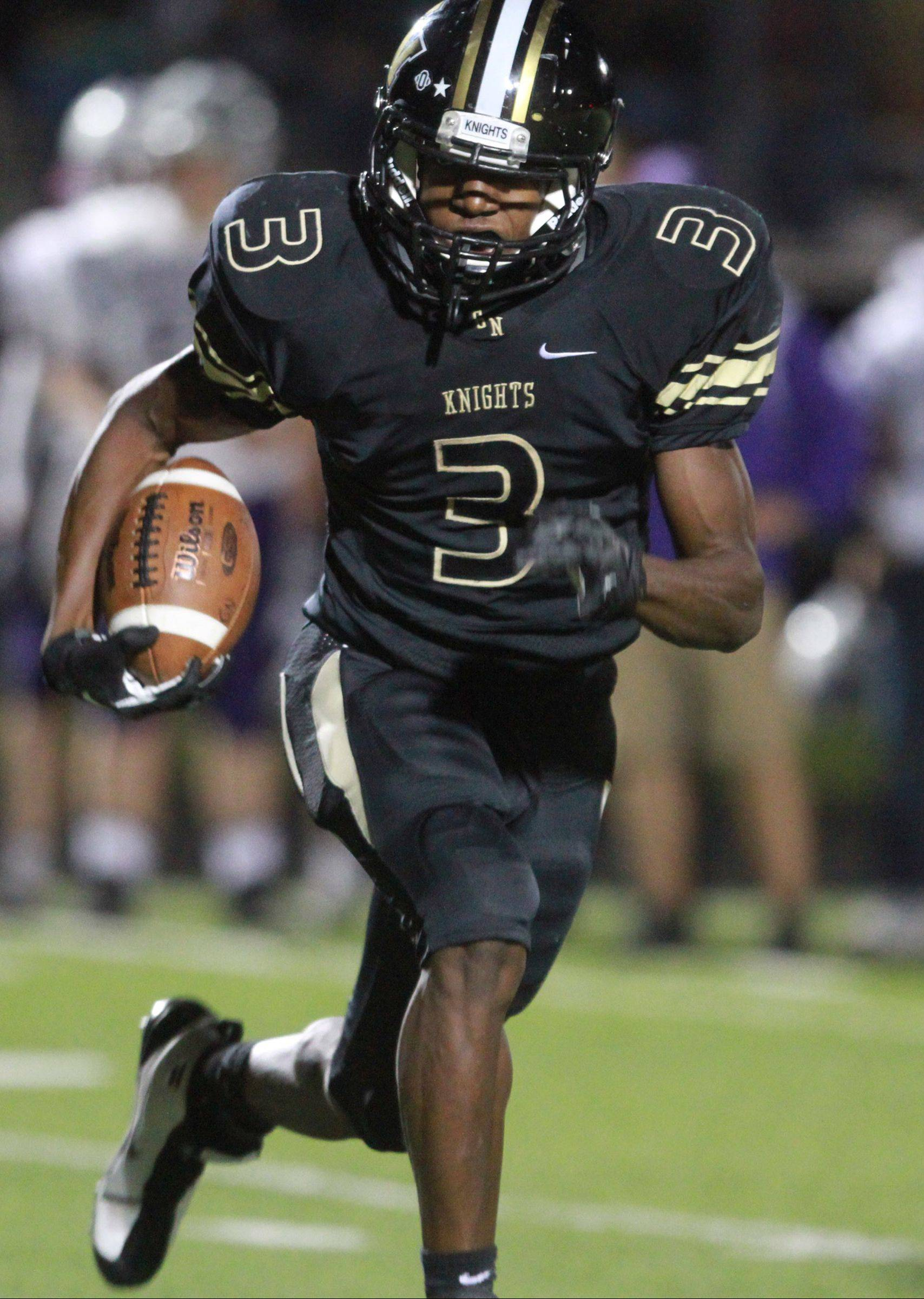 Grayslake North running back Titus Booker has room to roam Friday against visiting Hampshire.