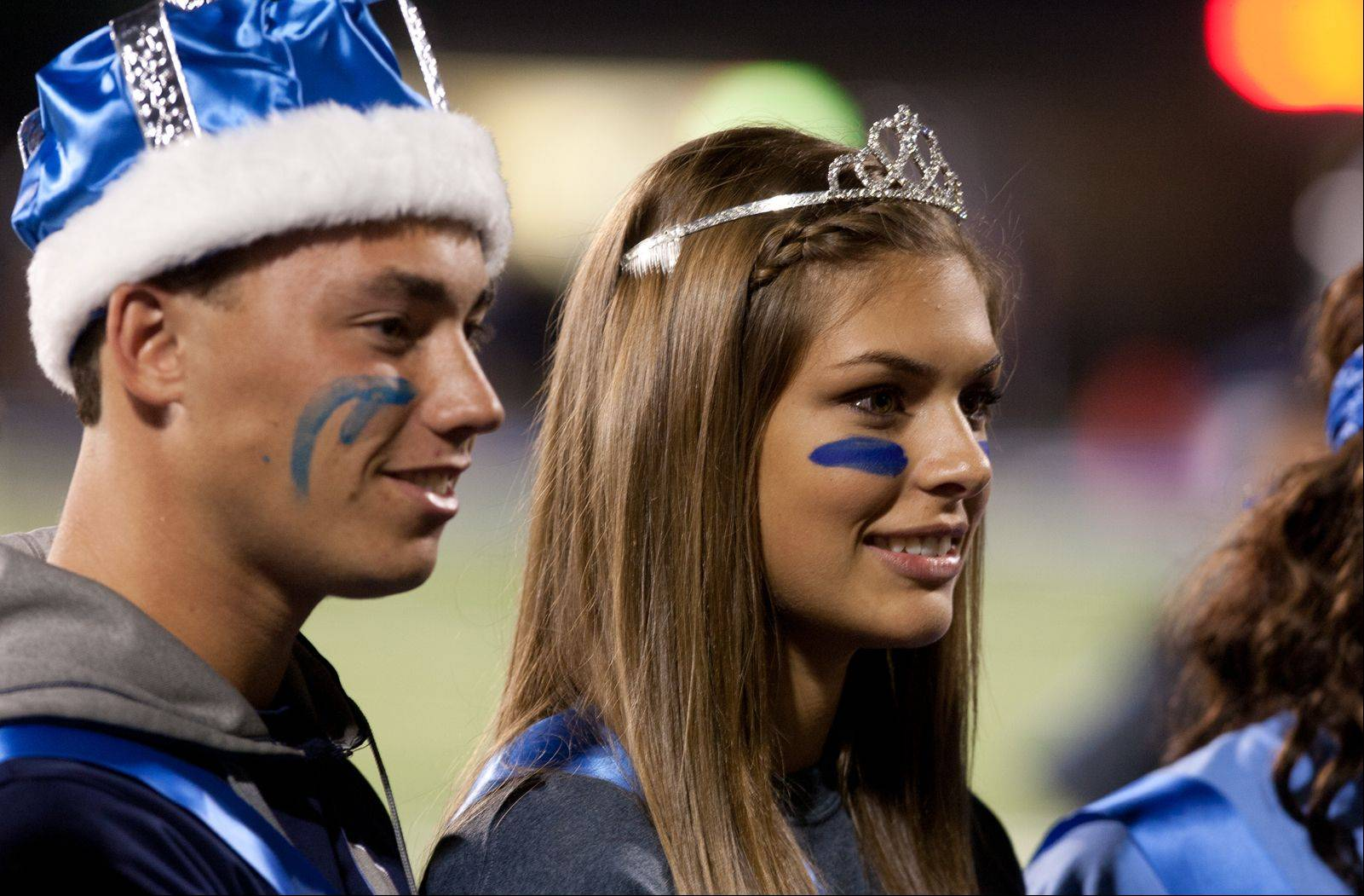 Lake Park Homecoming King Andrew Tau and Homercoming Queen Samantha Green are introduced to the crowd.
