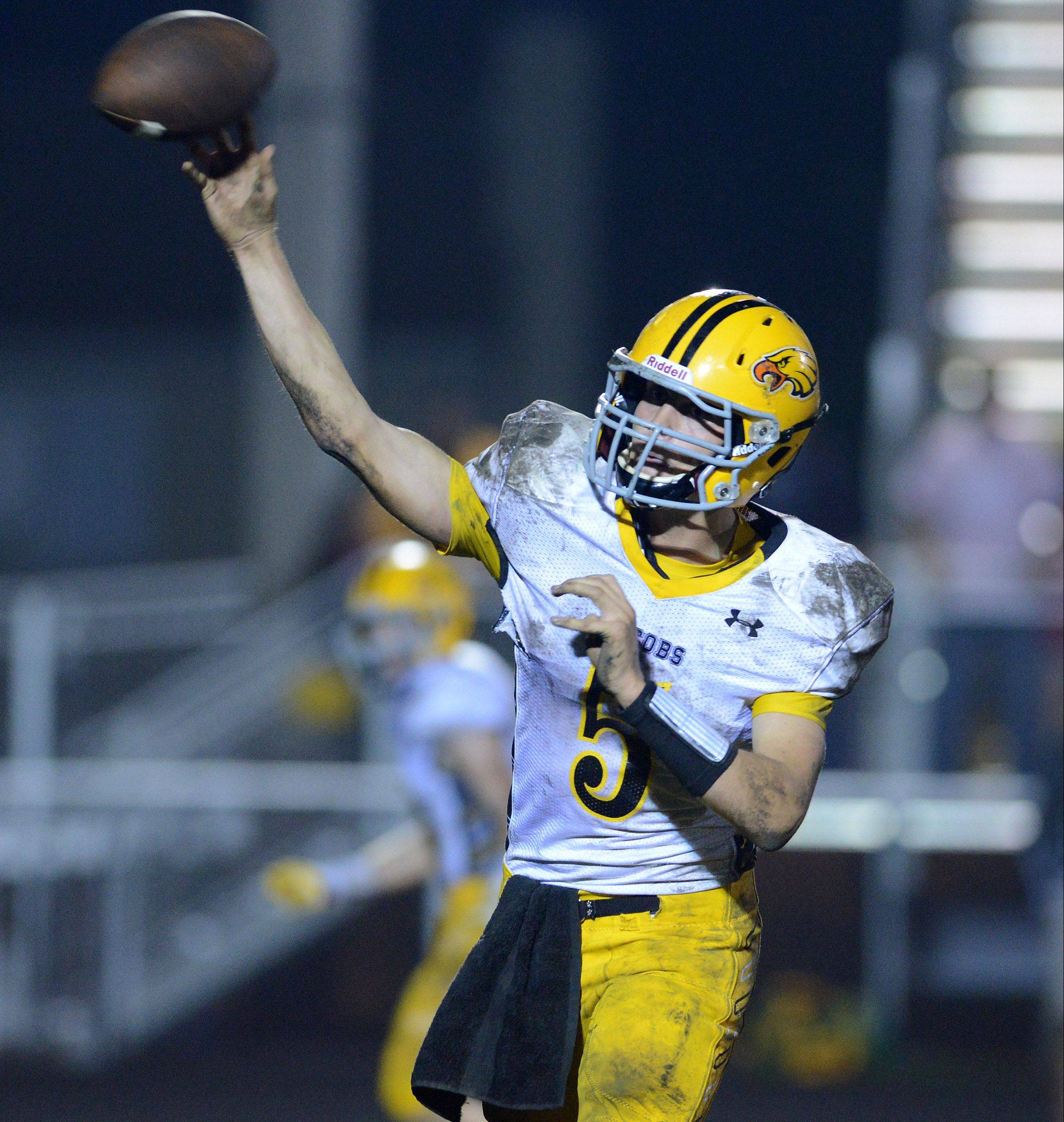 Jacobs quarterback Bret Mooney has made Colgate his college choice.