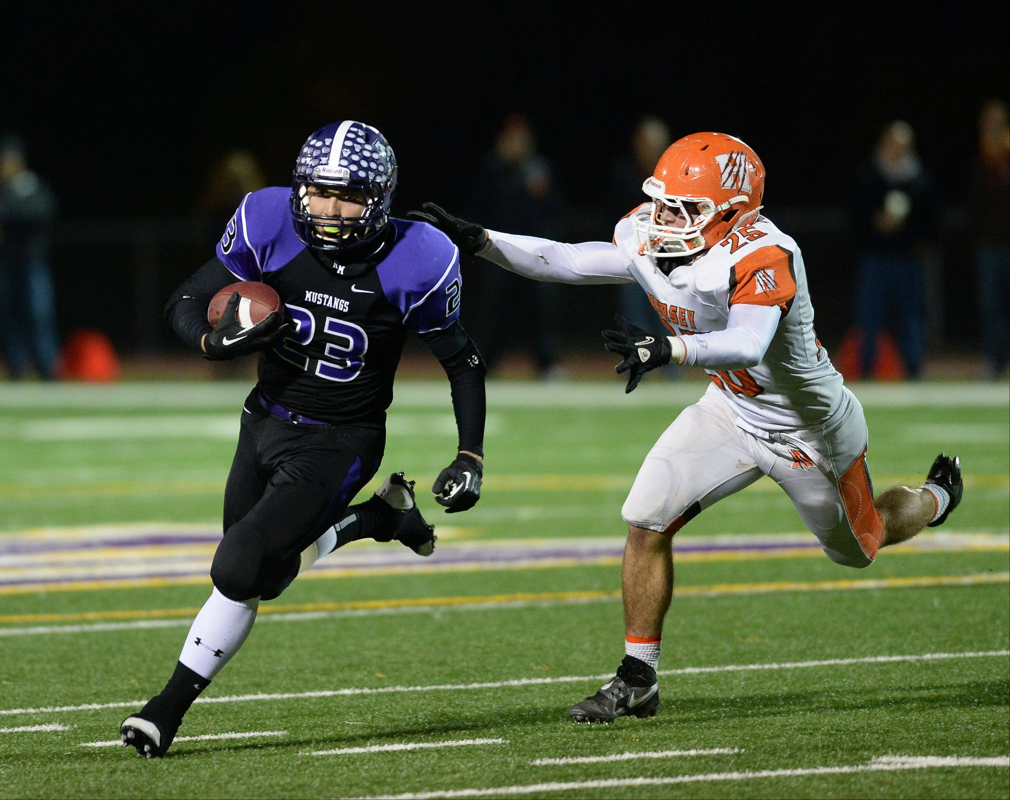 Week -8- Photos from the Rolling Meadows vs. Hersey football game on Friday, October 18 in Rolling Meadows.