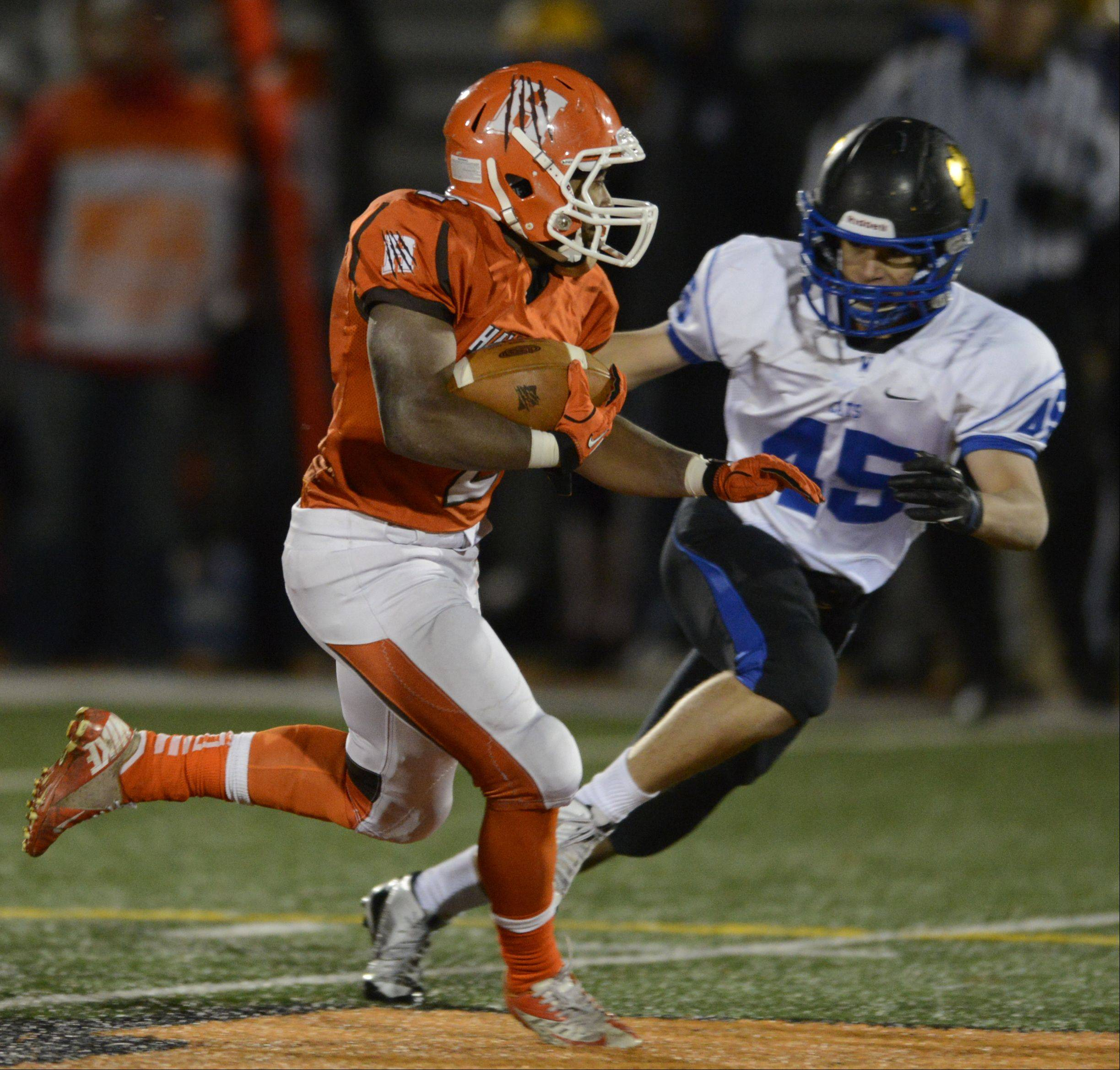 Week -9- Photos from the Hersey vs. Wheeling football game on Friday, October 25th, in Arlington Heights.