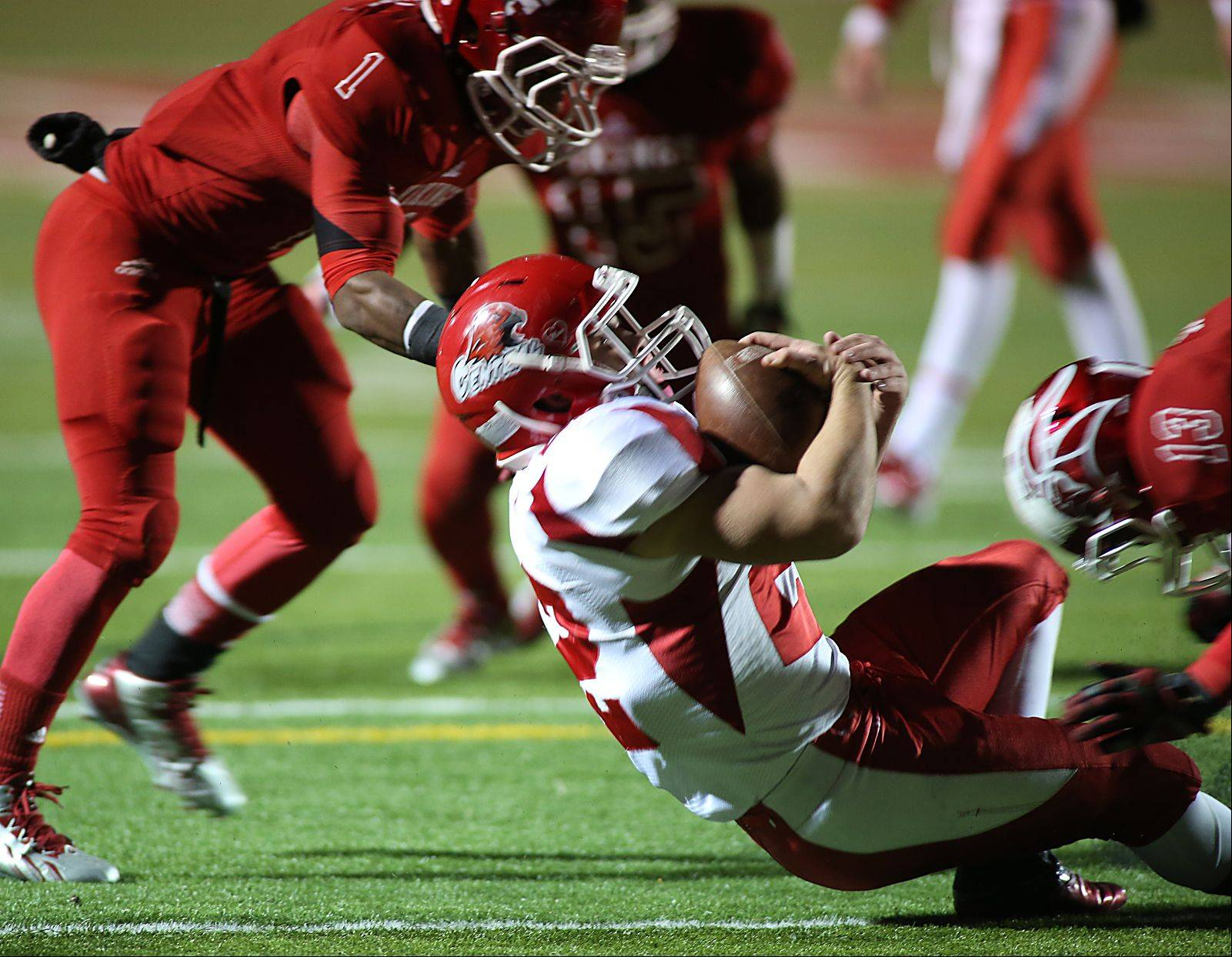 Naperville Central's Kevin Clifford looks to score against Homewood-Flossmoor.