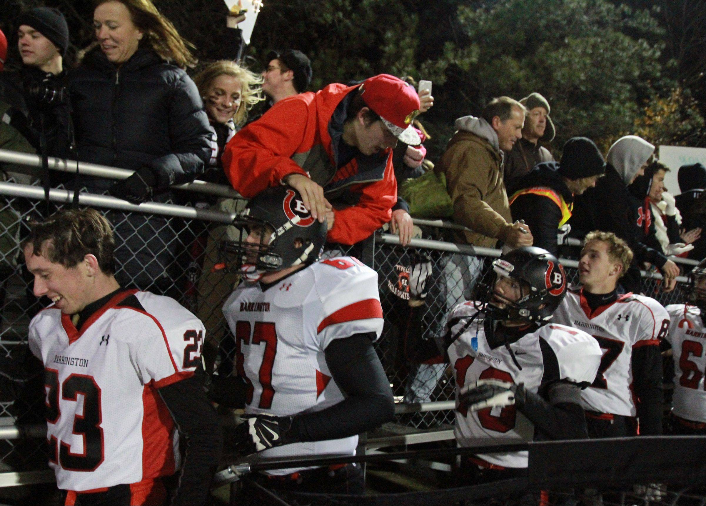 George LeClaire/gleclaire@dailyherald.com Playoffs -Round Two- Photos from the Barrington at Warren football game on Saturday, Nov. 9.