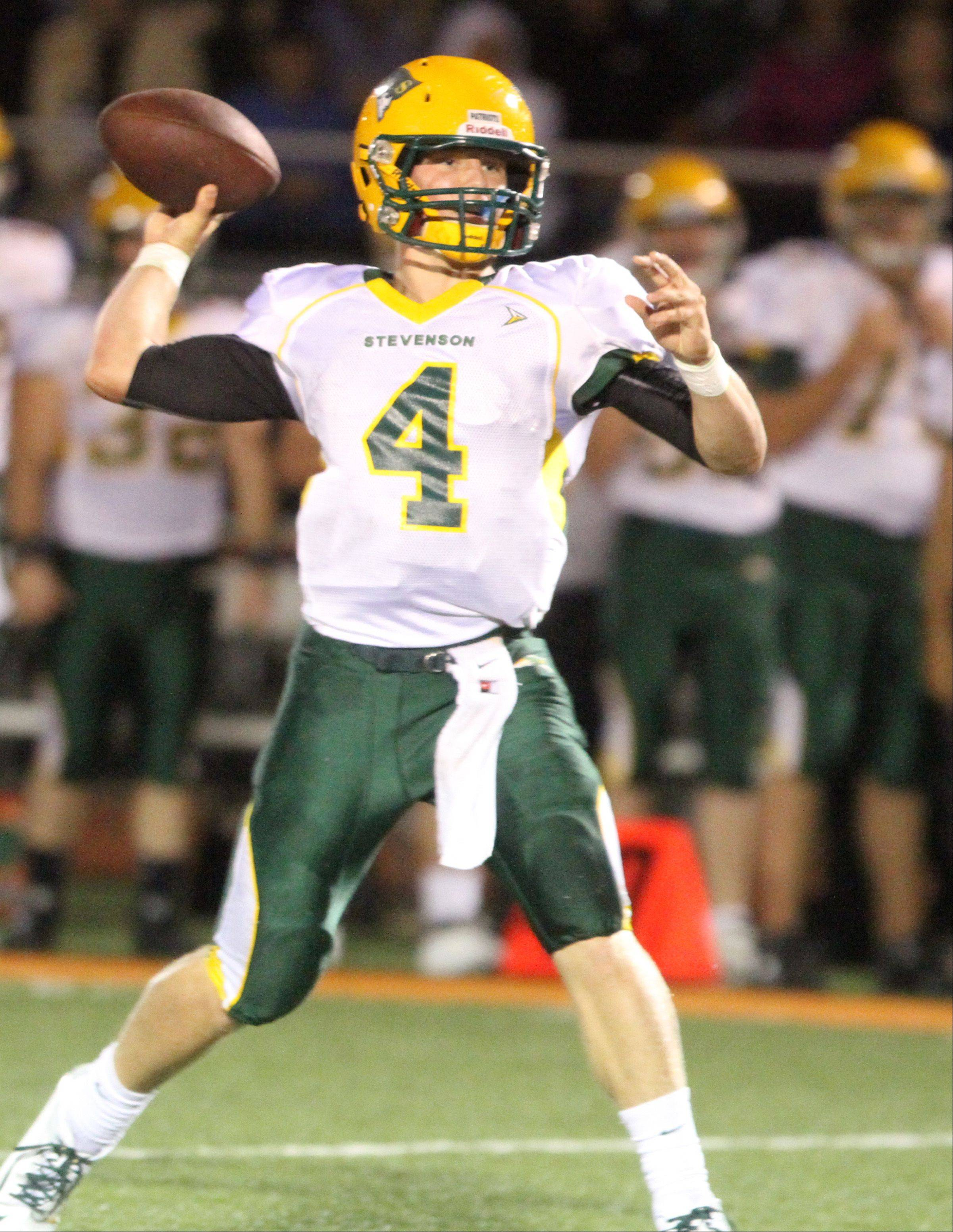 Stevenson quarterback Willie Bourbon: