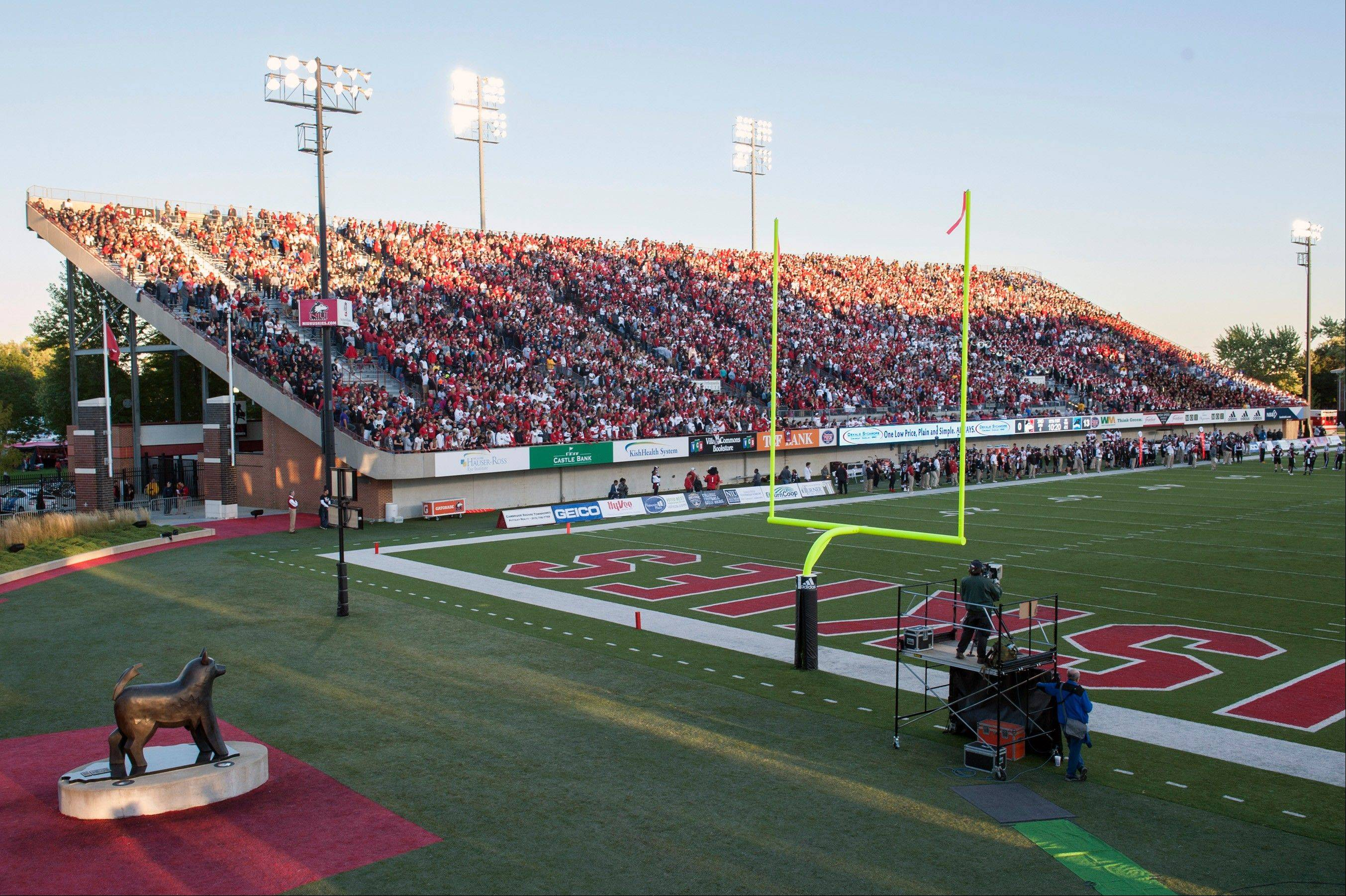 Huskie Stadium at Northern Illinois University in DeKalb will host the eight IHSA state football championship games for the first time this weekend.