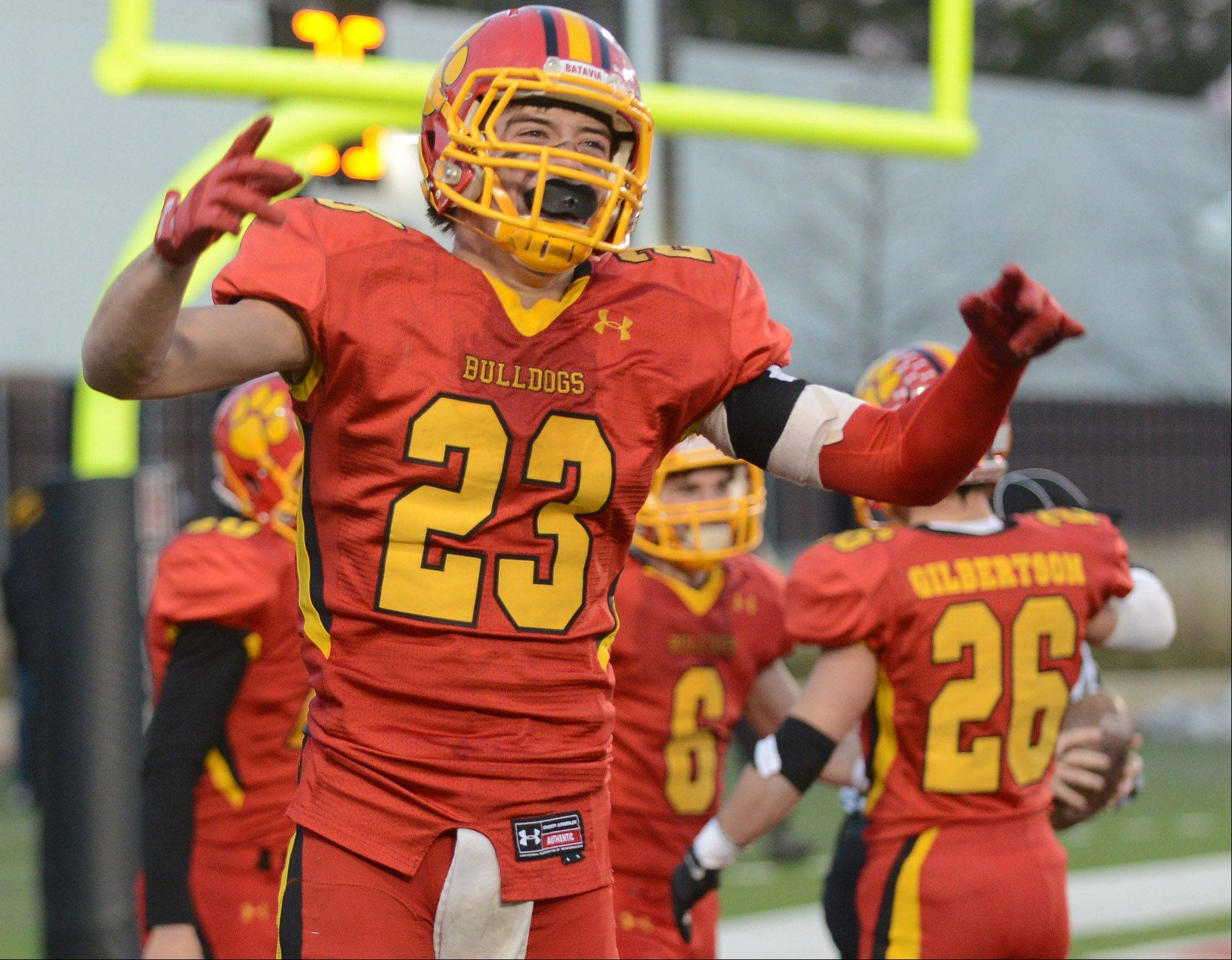 Images from the IHSA 6A football state title game between Batavia and Richards Saturday, November 30, 2013.