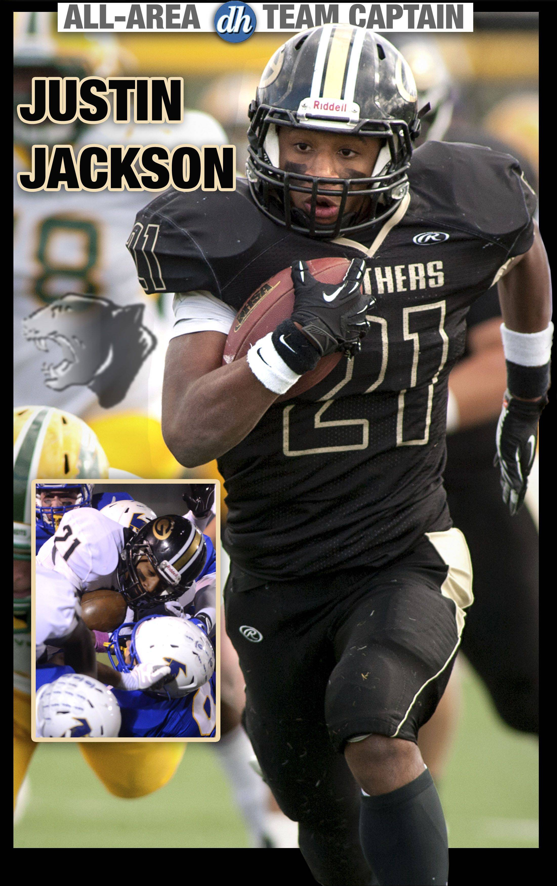 Justin Jackson of Glenbard North is a Daily Herald All-Area Team Captain in football for 2013.