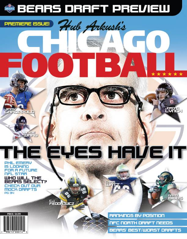 The premiere edition of Chicago Football, focusing on the Chicago Bears' preparations for the 2014 NFL Draft and local players likely to be selected, hits newsstands in early April.