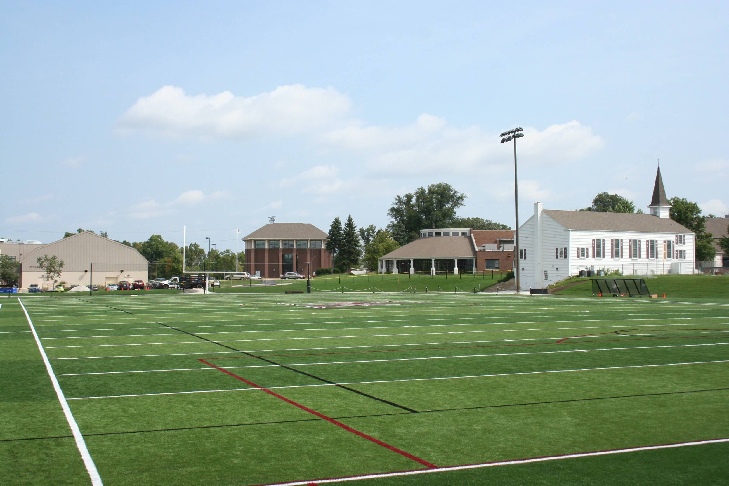 The football field at Wheaton Academy