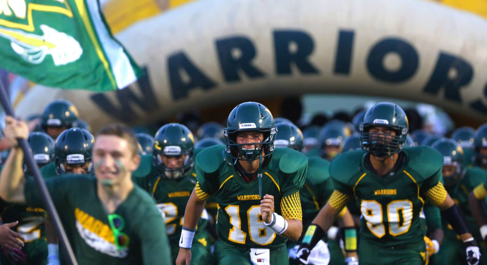 Waubonsie Valley's Zach Bennema and Kurtis Chione lead the Warriors into Friday night football action.