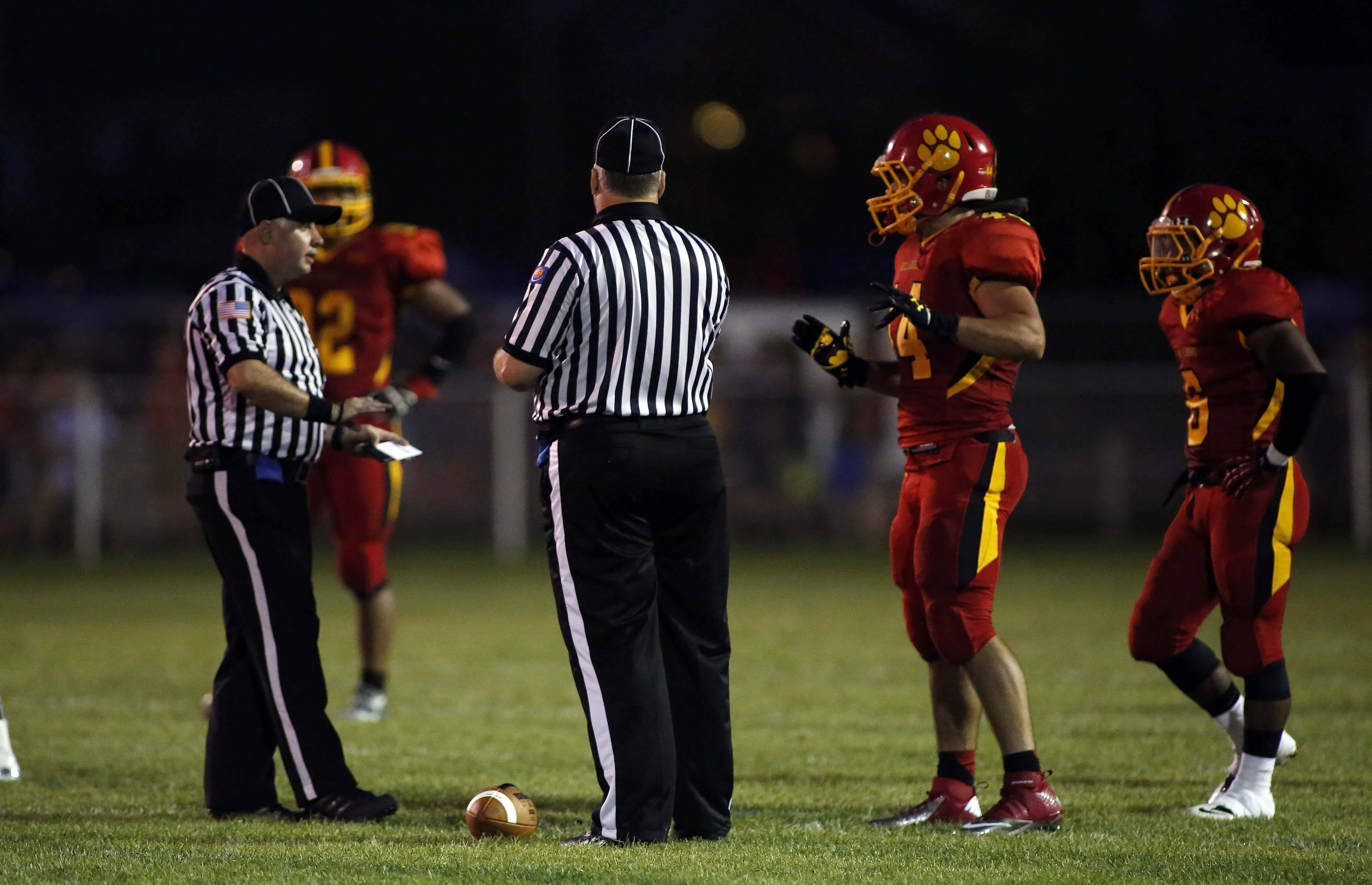 Referees delay Batavia's game because of lightning last Friday against Oswego. The teams resumed on Saturday and finished a thriller won 40-38 by the Panthers.