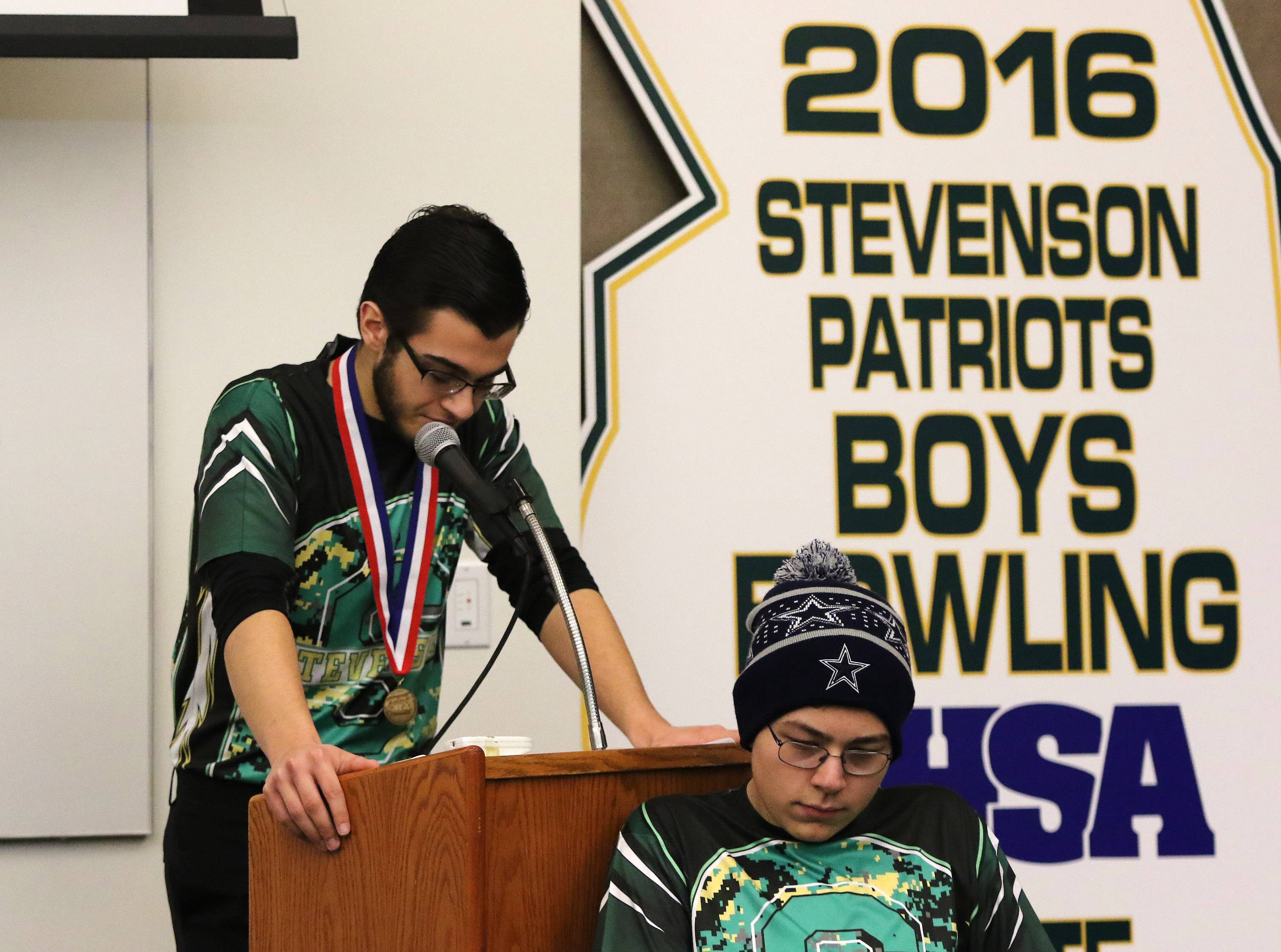 Stevenson High School boys bowling team rewrites record books