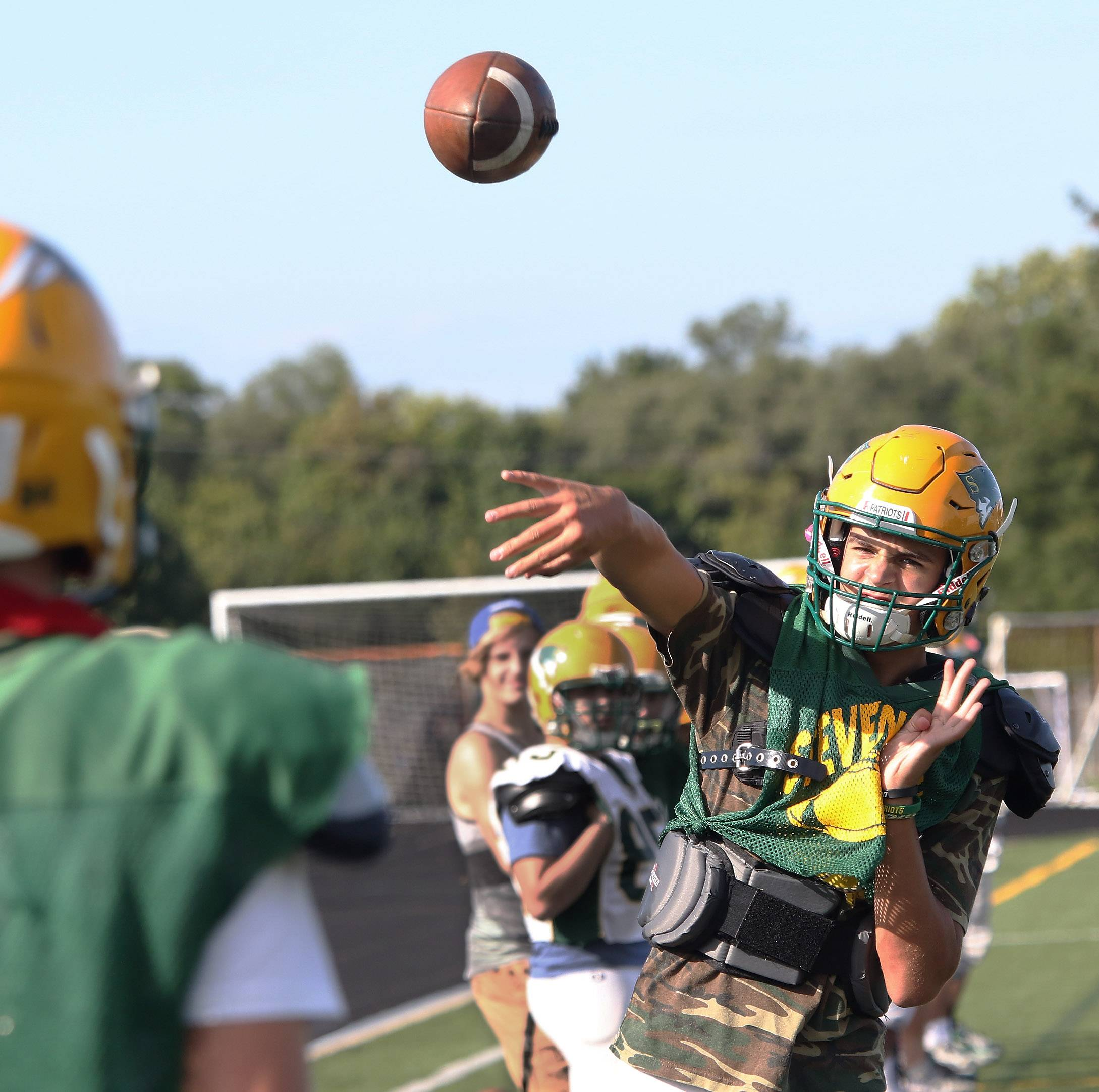 Quarterback Aidan O'Connell is putting up prolific passing numbers for Stevenson.