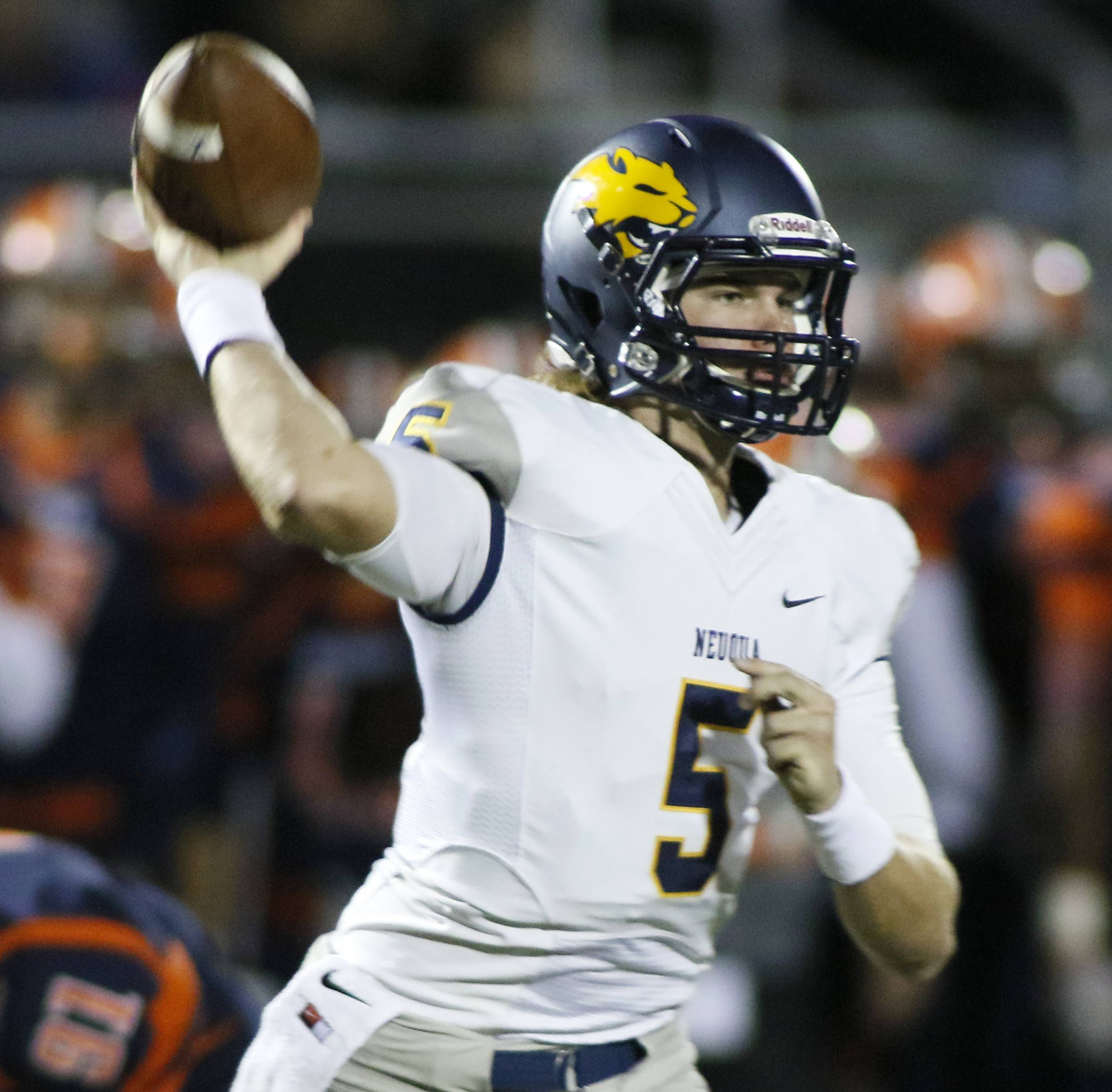 Neuqua Valley quarterback Jack Bastable and his teammates are undefeated through the first six games of the regular season.