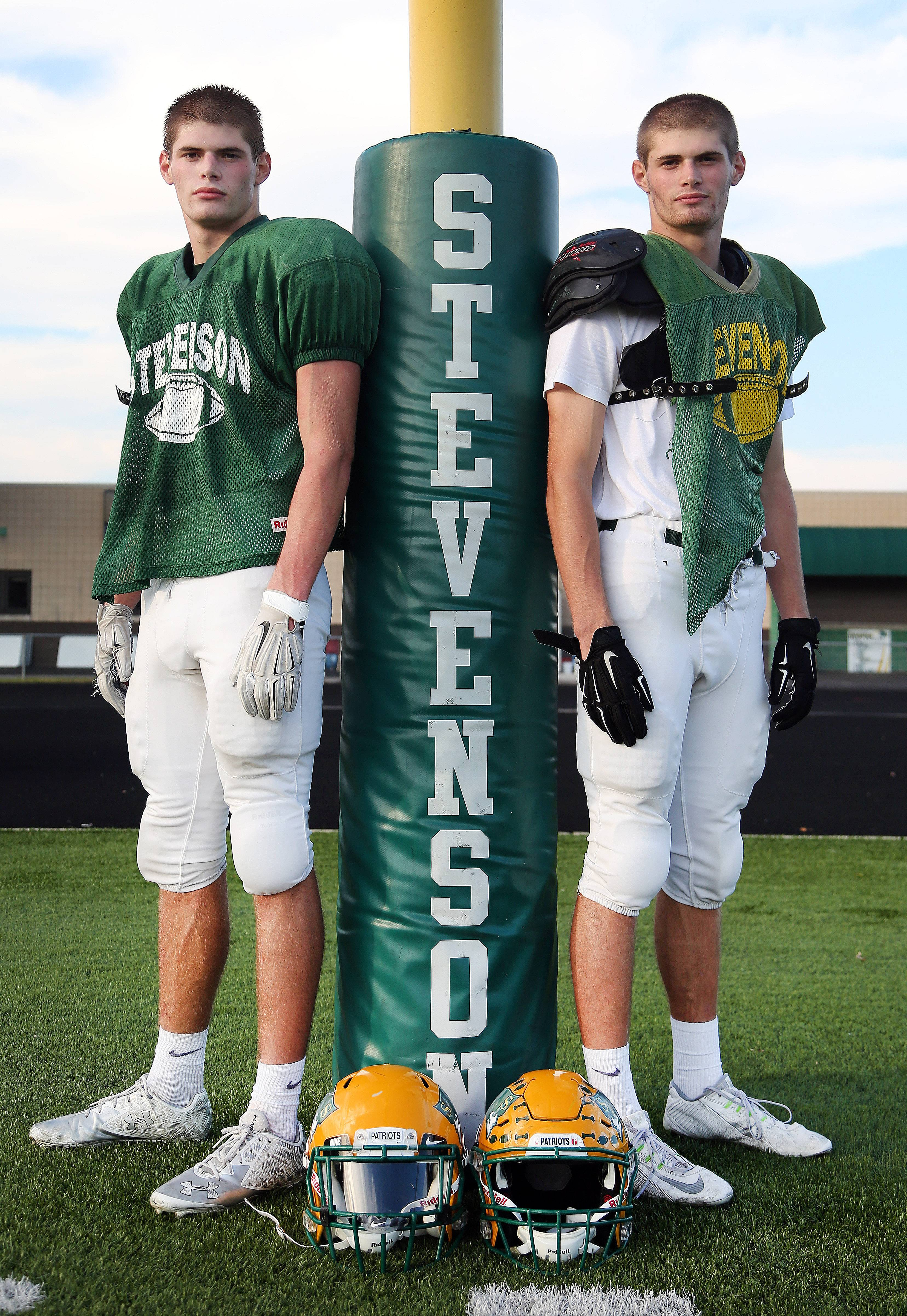 Stevenson's Michael, left, and Henry Marchese are senior wide receivers and are having a big year -- as family tradition would predict -- for the Patriots.