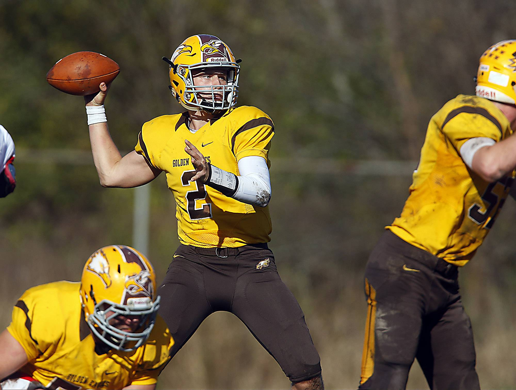 Jacobs and quarterback Chris Katrenick will host Fenwick Saturday in a Class 7A quarterfinal.