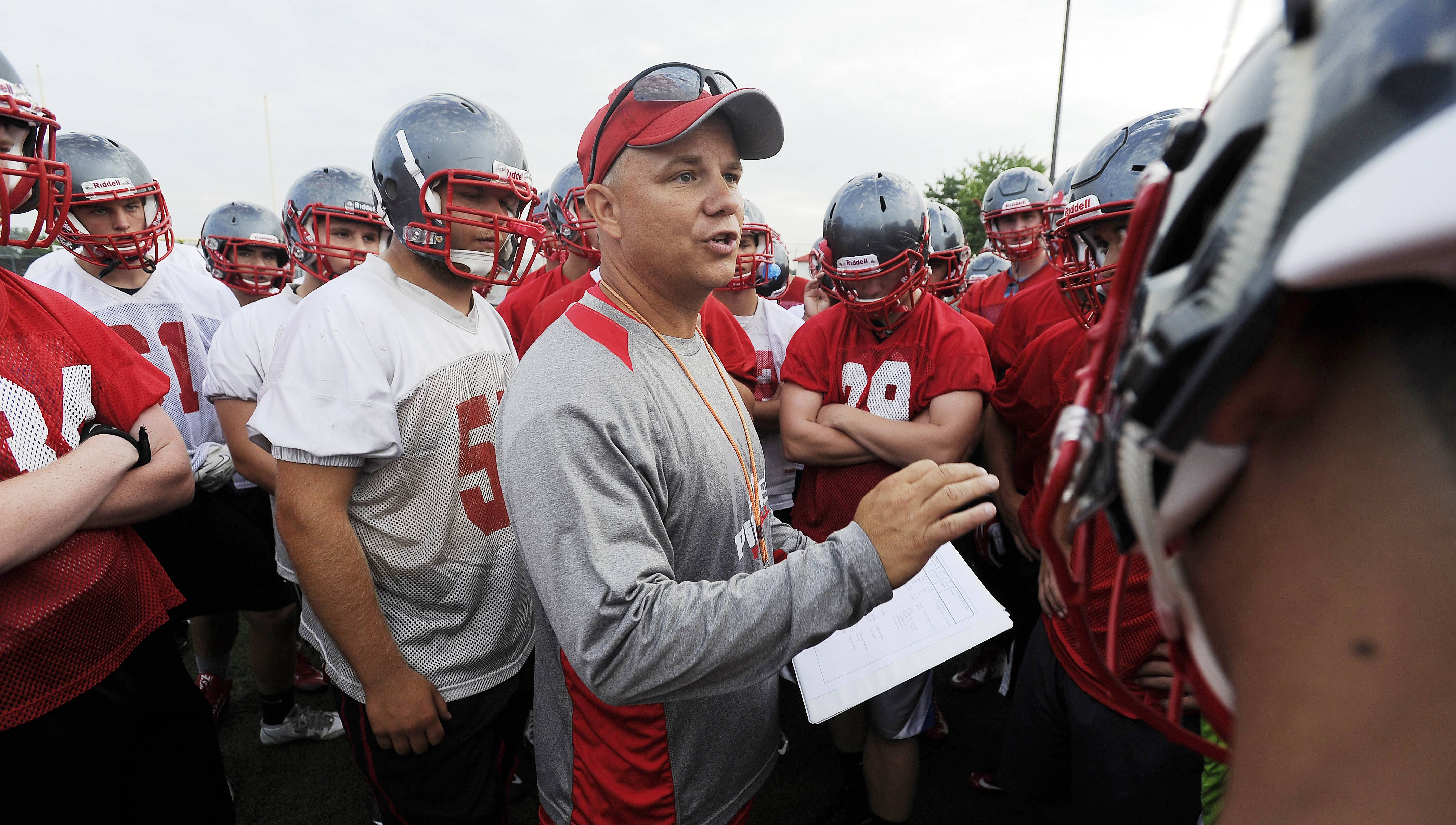 Rick Splitt has announced he's stepping down as Palatine's football coach in order to watch his own sons compete in high school football.