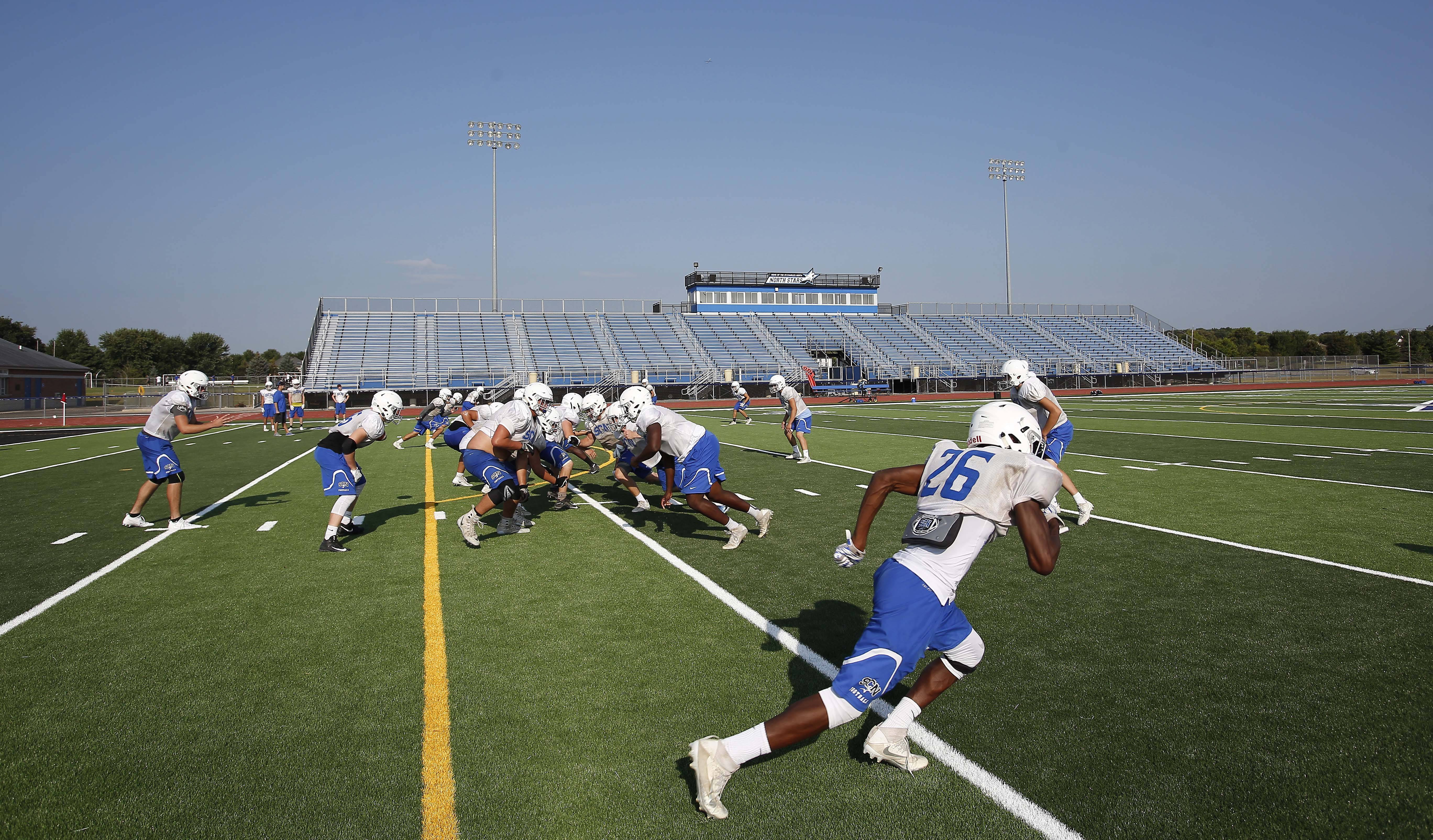 St. Charles North football practice.