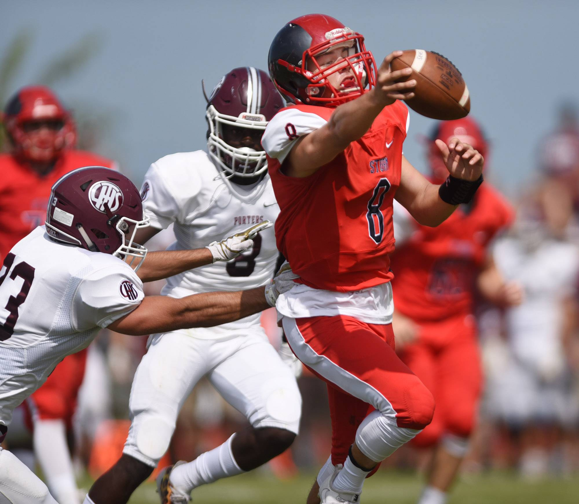 South Elgin's Nate Gomez scores his second running touchdown of the first half against Lockport Saturday in South Elgin.