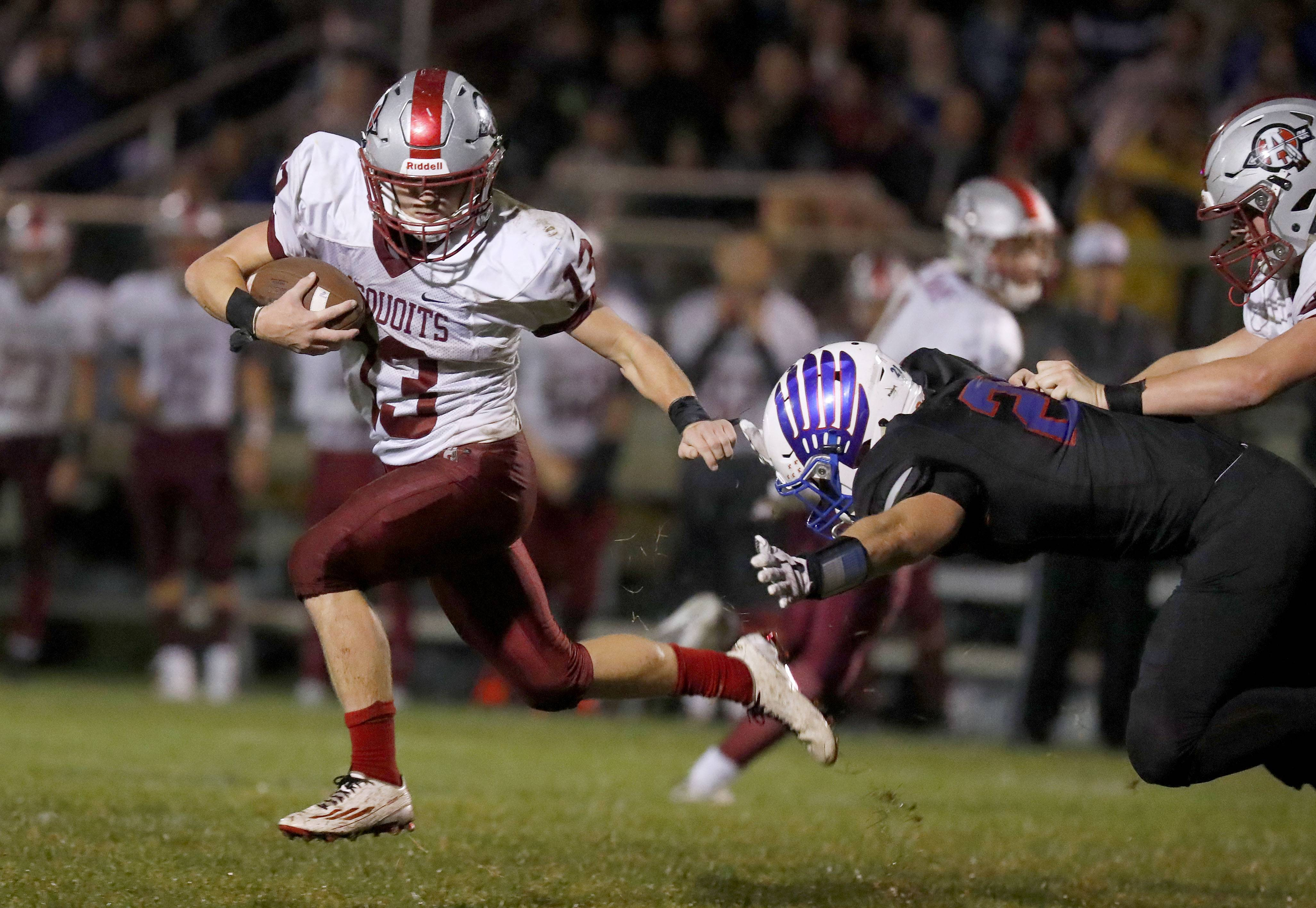 Antioch's Hunter Price, left, escapes from Lakes' Jared Kuzma on Friday night in Lake Villa.