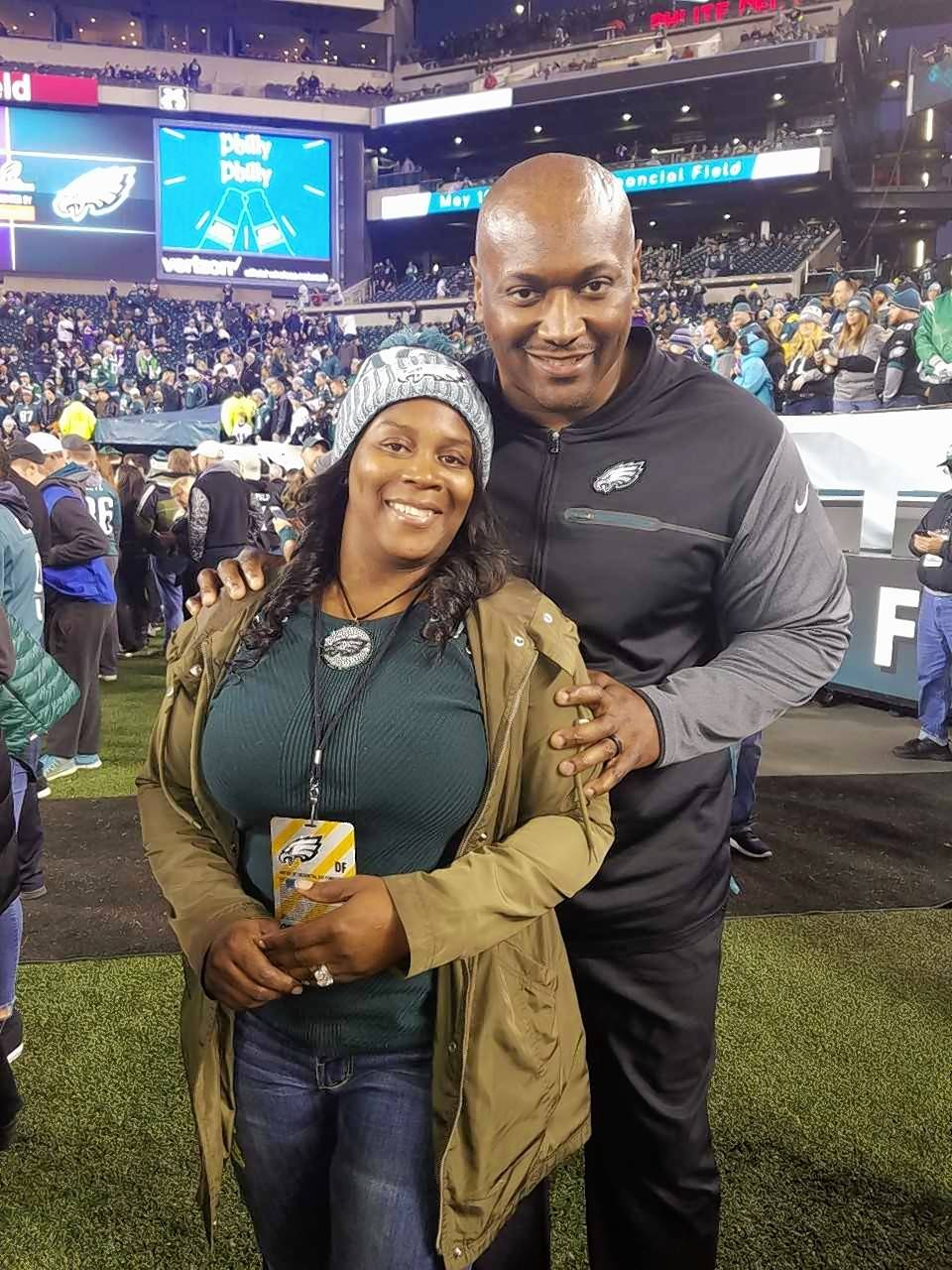 Phillip Daniels and his wife and high school sweetheart, Leslie, are looking forward to a weekend occupied by the Super Bowl.
