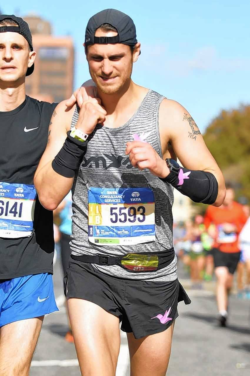 "In his debut film ""From The Ground Up,"" former Libertyville football player Santino Panico chronicles, among other things, his participation in the 2016 New York City Marathon."